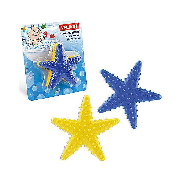 Набор ковриков Звезда на присосках (6 шт)Товары для купания<br>Мини-коврики для ванной комнаты - это яркое дополнение к купанию малыша. Это и игра и развитие моторики и изучение зверушек. <br>Колоссальный и постоянно растущий спрос на них обусловлен реакцией малышей и их мам на данное изобретение по всему миру.<br>Мини-коврики снабжены присосками и превосходно клеятся на влажный кафель.<br><br>Ширина мм: 110<br>Глубина мм: 110<br>Высота мм: 50<br>Вес г: 98<br>Возраст от месяцев: -2147483648<br>Возраст до месяцев: 2147483647<br>Пол: Унисекс<br>Возраст: Детский<br>SKU: 4563317
