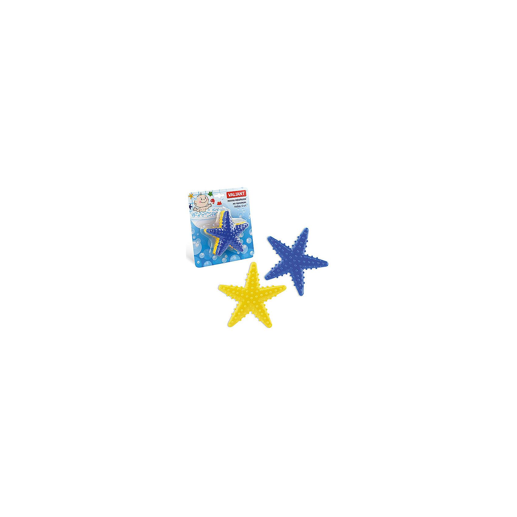 Набор ковриков Звезда на присосках (6 шт)Ванная комната<br>Мини-коврики для ванной комнаты - это яркое дополнение к купанию малыша. Это и игра и развитие моторики и изучение зверушек. <br>Колоссальный и постоянно растущий спрос на них обусловлен реакцией малышей и их мам на данное изобретение по всему миру.<br>Мини-коврики снабжены присосками и превосходно клеятся на влажный кафель.<br><br>Ширина мм: 110<br>Глубина мм: 110<br>Высота мм: 50<br>Вес г: 98<br>Возраст от месяцев: -2147483648<br>Возраст до месяцев: 2147483647<br>Пол: Унисекс<br>Возраст: Детский<br>SKU: 4563317