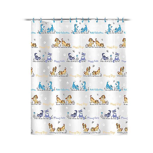 Штора для ванной Кошки и собаки 180*180 смШторы для ванны<br>Штора для ванной комнаты с яркими детскими принтами создаст дополнительный комфорт и уют для купания Вашего малыша!<br><br>Дополнительная информация:<br><br>- материал: полиэстер<br>- размер: 180*180 см.<br><br>Штору для ванной Кошки и собаки можно купить в нашем интернет-магазине.<br><br>Ширина мм: 180<br>Глубина мм: 5<br>Высота мм: 180<br>Вес г: 489<br>Возраст от месяцев: -2147483648<br>Возраст до месяцев: 2147483647<br>Пол: Унисекс<br>Возраст: Детский<br>SKU: 4563325