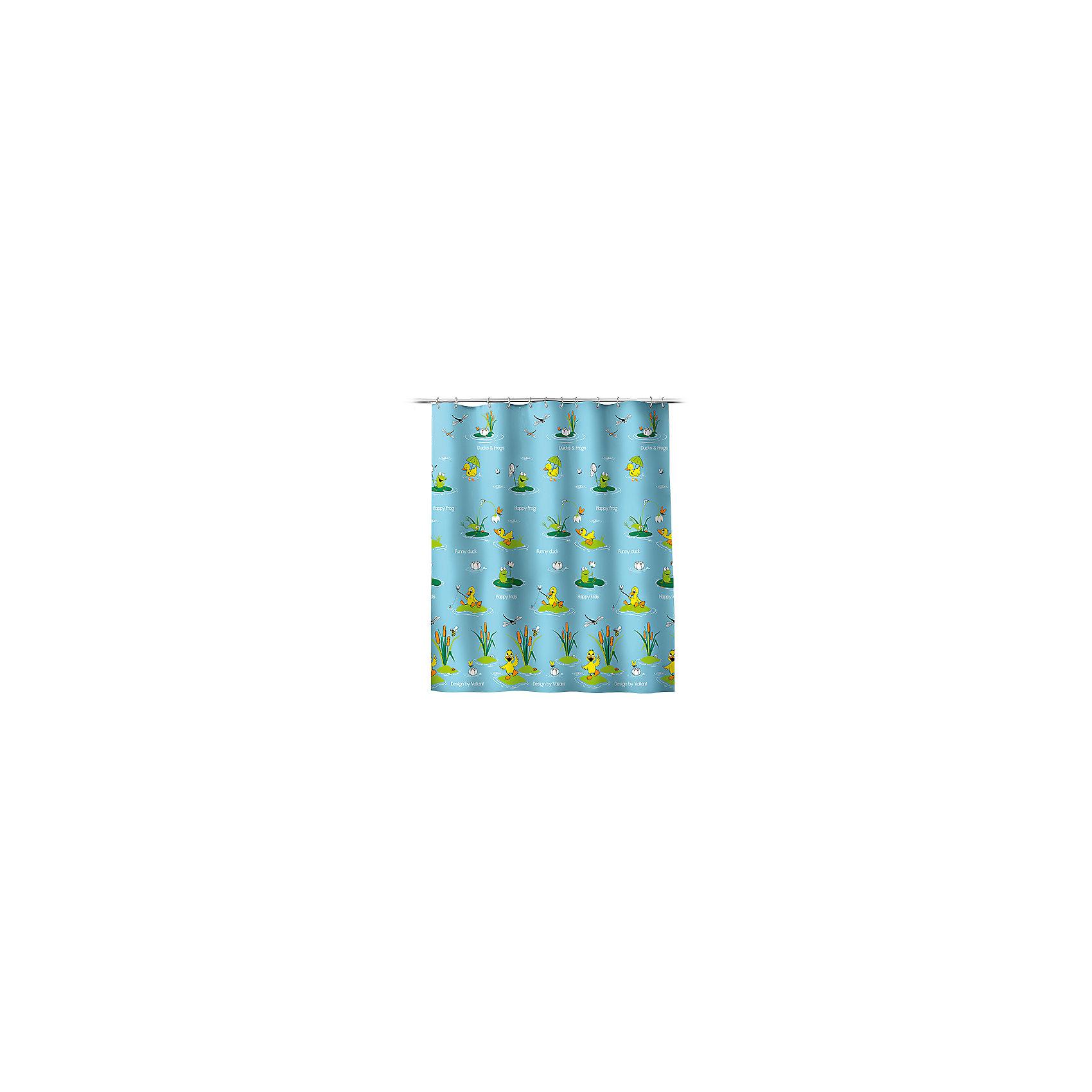 VALIANT Штора для ванной Утята и лягушата 180*180 см