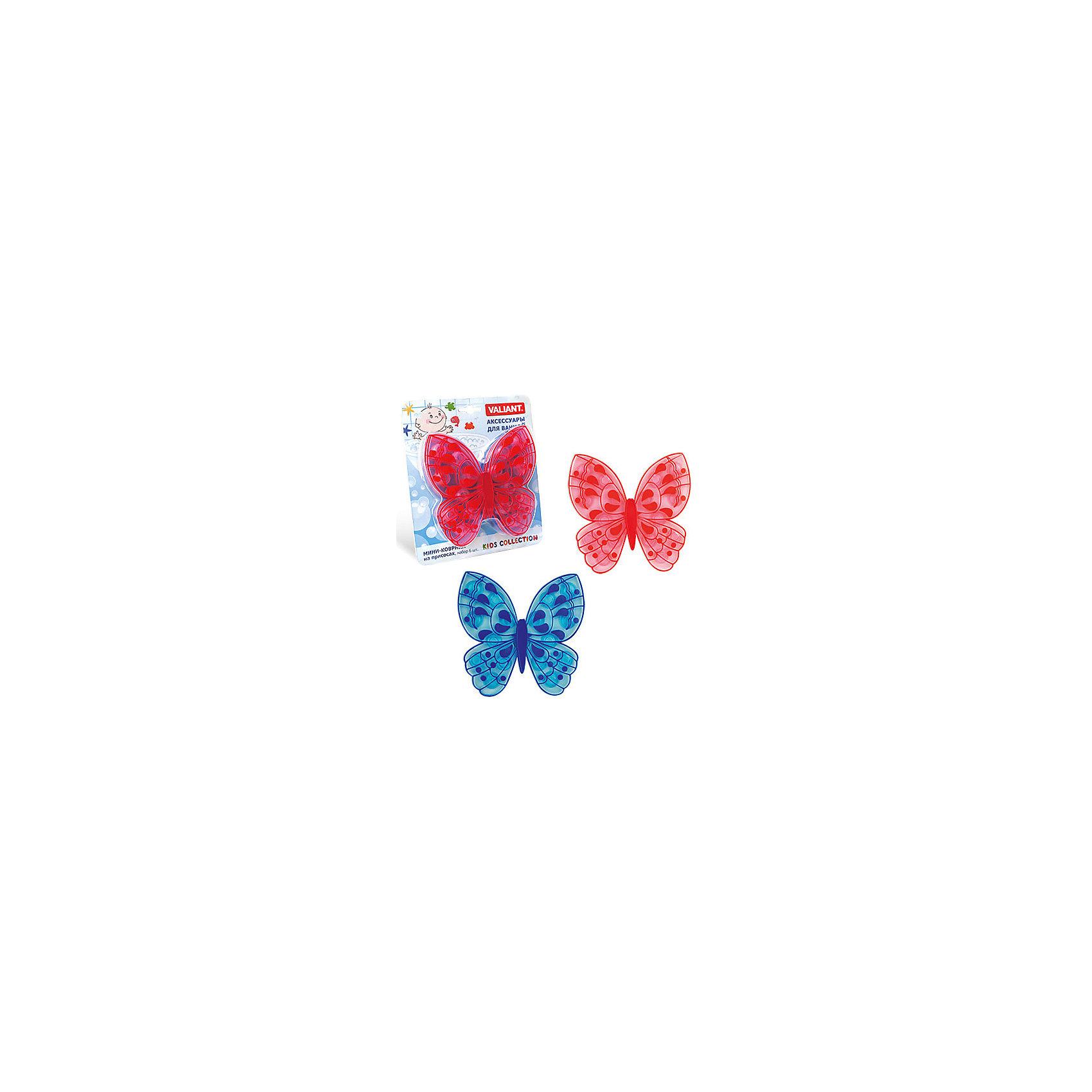 Набор ковриков Бабочка на присосках (6 шт)Ванная комната<br>Мини-коврики для ванной комнаты - это яркое дополнение к купанию малыша. Это и игра и развитие моторики и изучение зверушек. <br>Колоссальный и постоянно растущий спрос на них обусловлен реакцией малышей и их мам на данное изобретение по всему миру.<br>Мини-коврики снабжены присосками и превосходно клеятся на влажный кафель.<br><br>Ширина мм: 170<br>Глубина мм: 35<br>Высота мм: 200<br>Вес г: 192<br>Возраст от месяцев: -2147483648<br>Возраст до месяцев: 2147483647<br>Пол: Унисекс<br>Возраст: Детский<br>SKU: 4563330