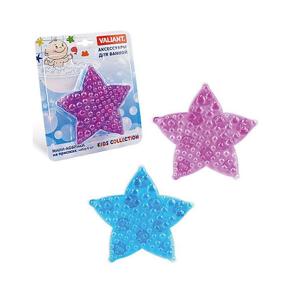 Набор ковриков Морская звезда на присосках (6 шт)Товары для купания<br>Мини-коврики для ванной комнаты - это яркое дополнение к купанию малыша. Это и игра и развитие моторики и изучение зверушек. <br>Колоссальный и постоянно растущий спрос на них обусловлен реакцией малышей и их мам на данное изобретение по всему миру.<br>Мини-коврики снабжены присосками и превосходно клеятся на влажный кафель.<br><br>Ширина мм: 350<br>Глубина мм: 50<br>Высота мм: 225<br>Вес г: 450<br>Возраст от месяцев: -2147483648<br>Возраст до месяцев: 2147483647<br>Пол: Унисекс<br>Возраст: Детский<br>SKU: 4563333
