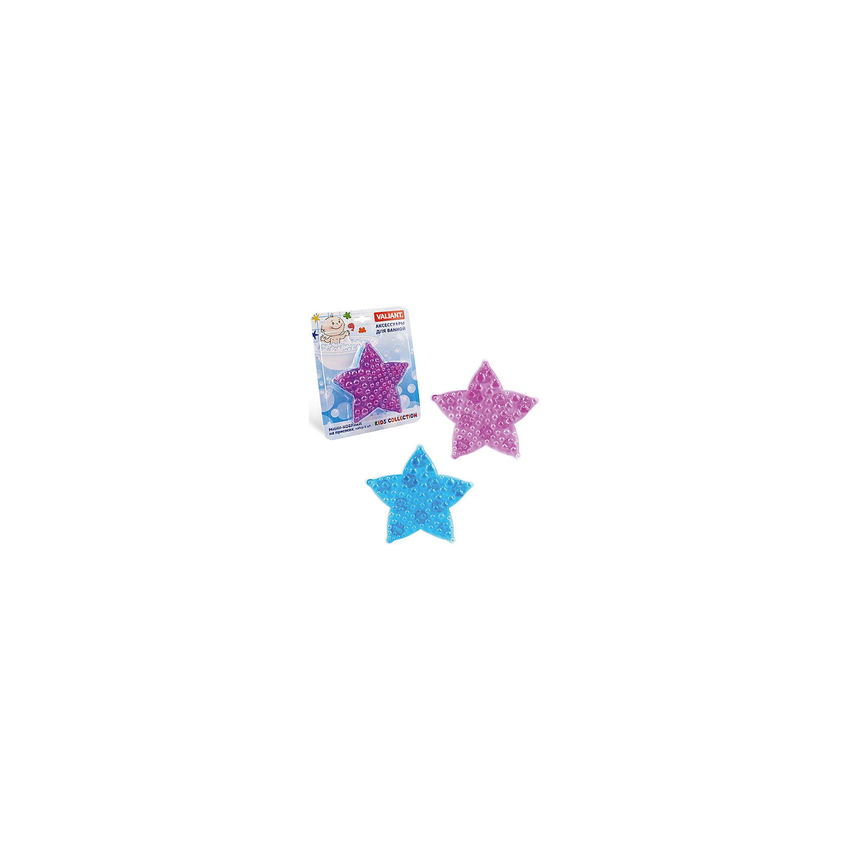 Набор ковриков Морская звезда на присосках (6 шт)Ванная комната<br>Мини-коврики для ванной комнаты - это яркое дополнение к купанию малыша. Это и игра и развитие моторики и изучение зверушек. <br>Колоссальный и постоянно растущий спрос на них обусловлен реакцией малышей и их мам на данное изобретение по всему миру.<br>Мини-коврики снабжены присосками и превосходно клеятся на влажный кафель.<br><br>Ширина мм: 350<br>Глубина мм: 50<br>Высота мм: 225<br>Вес г: 450<br>Возраст от месяцев: -2147483648<br>Возраст до месяцев: 2147483647<br>Пол: Унисекс<br>Возраст: Детский<br>SKU: 4563333