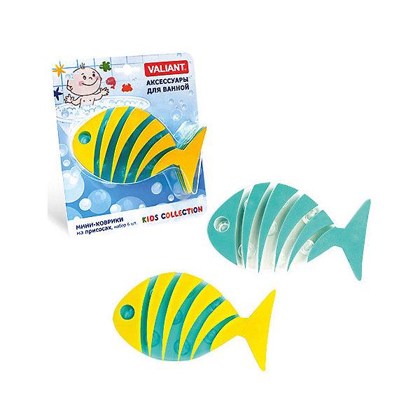 Набор ковриков Полосатая рыба на присосках (6 шт)Товары для купания<br>Мини-коврики для ванной комнаты - это яркое дополнение к купанию малыша. Это и игра и развитие моторики и изучение зверушек. <br>Колоссальный и постоянно растущий спрос на них обусловлен реакцией малышей и их мам на данное изобретение по всему миру.<br>Мини-коврики снабжены присосками и превосходно клеятся на влажный кафель.<br><br>Ширина мм: 170<br>Глубина мм: 35<br>Высота мм: 200<br>Вес г: 175<br>Возраст от месяцев: -2147483648<br>Возраст до месяцев: 2147483647<br>Пол: Унисекс<br>Возраст: Детский<br>SKU: 4563335