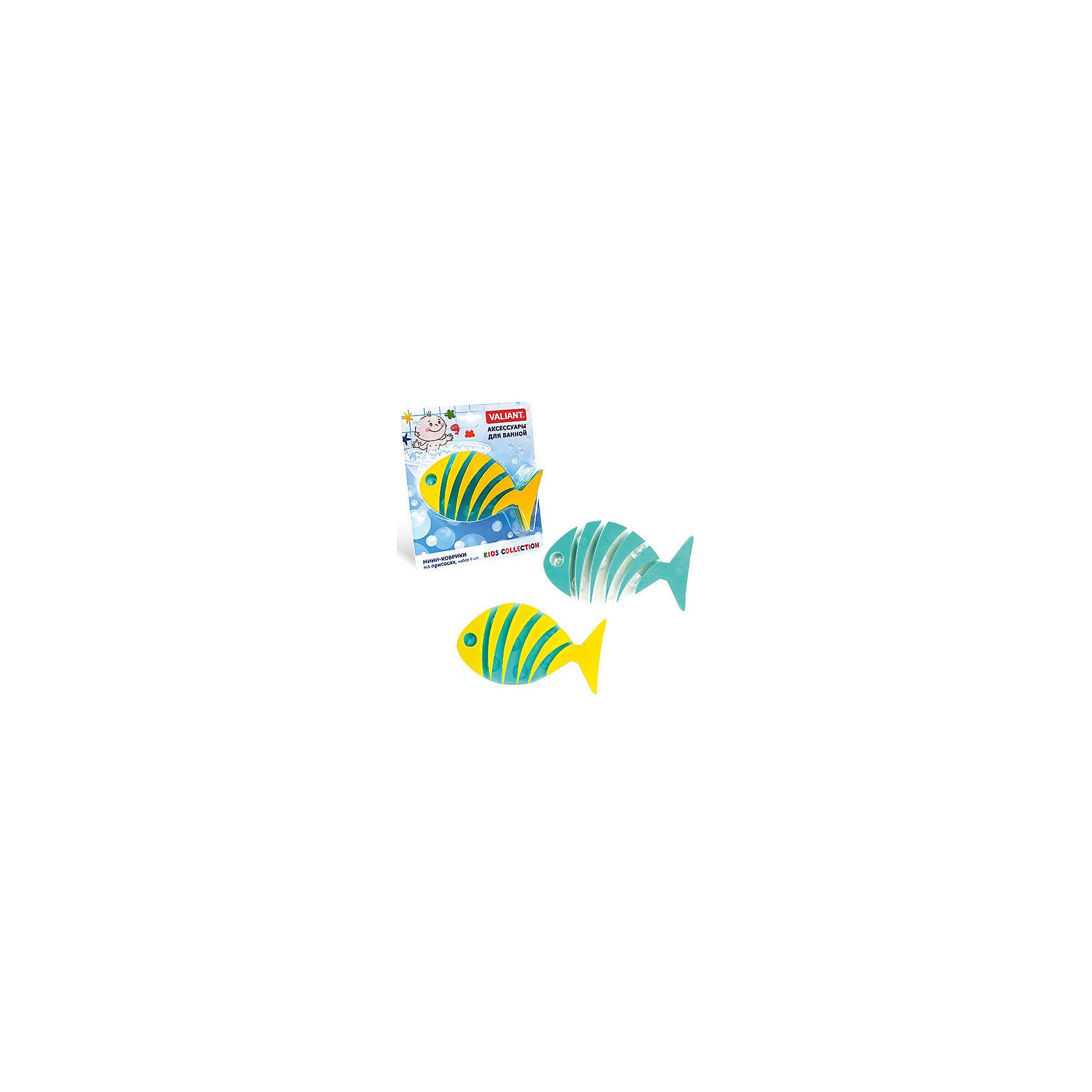 Набор ковриков Полосатая рыба на присосках (6 шт)Ванная комната<br>Мини-коврики для ванной комнаты - это яркое дополнение к купанию малыша. Это и игра и развитие моторики и изучение зверушек. <br>Колоссальный и постоянно растущий спрос на них обусловлен реакцией малышей и их мам на данное изобретение по всему миру.<br>Мини-коврики снабжены присосками и превосходно клеятся на влажный кафель.<br><br>Ширина мм: 170<br>Глубина мм: 35<br>Высота мм: 200<br>Вес г: 175<br>Возраст от месяцев: -2147483648<br>Возраст до месяцев: 2147483647<br>Пол: Унисекс<br>Возраст: Детский<br>SKU: 4563335