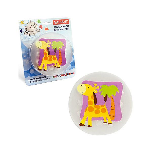 Набор ковриков Жирафик на присосках (6 шт)Товары для купания<br>Мини-коврики для ванной комнаты - это яркое дополнение к купанию малыша. Это и игра и развитие моторики и изучение зверушек. <br>Колоссальный и постоянно растущий спрос на них обусловлен реакцией малышей и их мам на данное изобретение по всему миру.<br>Мини-коврики снабжены присосками и превосходно клеятся на влажный кафель.<br>Ширина мм: 170; Глубина мм: 35; Высота мм: 200; Вес г: 217; Возраст от месяцев: -2147483648; Возраст до месяцев: 2147483647; Пол: Унисекс; Возраст: Детский; SKU: 4563338;