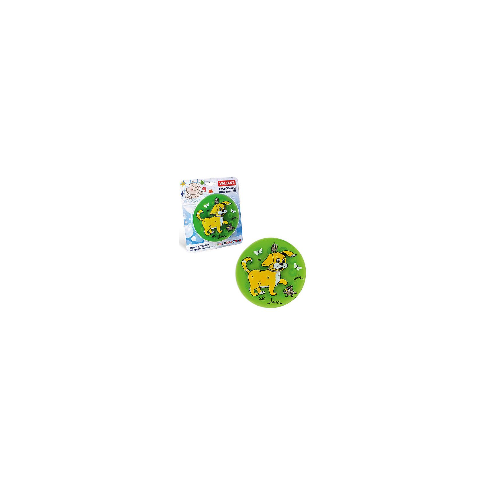 Набор ковриков Собачка на присосках (6 шт)Товары для купания<br>Мини-коврики для ванной комнаты - это яркое дополнение к купанию малыша. Это и игра и развитие моторики и изучение зверушек. <br>Колоссальный и постоянно растущий спрос на них обусловлен реакцией малышей и их мам на данное изобретение по всему миру.<br>Мини-коврики снабжены присосками и превосходно клеятся на влажный кафель.<br><br>Ширина мм: 170<br>Глубина мм: 35<br>Высота мм: 200<br>Вес г: 217<br>Возраст от месяцев: -2147483648<br>Возраст до месяцев: 2147483647<br>Пол: Унисекс<br>Возраст: Детский<br>SKU: 4563344