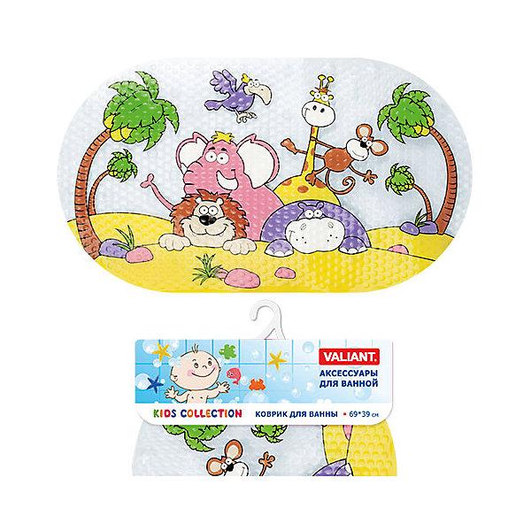 Коврик для ванны Животные Африки 69*39 смТовары для купания<br>Коврик для ванны Животные Африки 69*39 см. выполнен из 100% винила и оформлен ярким принтом с  забавными животными. <br>Противоскользящий коврик - это хорошая защита, как детей, так и взрослых от неожиданных падений на гладкой мокрой поверхности.<br>Коврик очень плотно крепится ко дну  с помощью множества  присосок, расположенных по всей изнаночной стороне. Отверстия, предназначенные для пропуска воды, способствуют лучшему сцеплению с поверхностью, таким образом, исключая скольжение. <br>Принимая душ или ванную, постелите противоскользящий коврик. Это особенно актуально для семьи с маленькими детьми.<br><br>Дополнительная информация: <br><br>- возраст: от 1 года.<br>- материал: поливинилхлорид с антибактериальными добавками.<br>- размер: 69*39 см.<br>- вес: 525 гр.<br><br>Коврик для ванны Животные Африки 69*39 см. можно купить в нашем интернет-магазине.<br>Ширина мм: 390; Глубина мм: 30; Высота мм: 760; Вес г: 542; Возраст от месяцев: -2147483648; Возраст до месяцев: 2147483647; Пол: Унисекс; Возраст: Детский; SKU: 4563349;