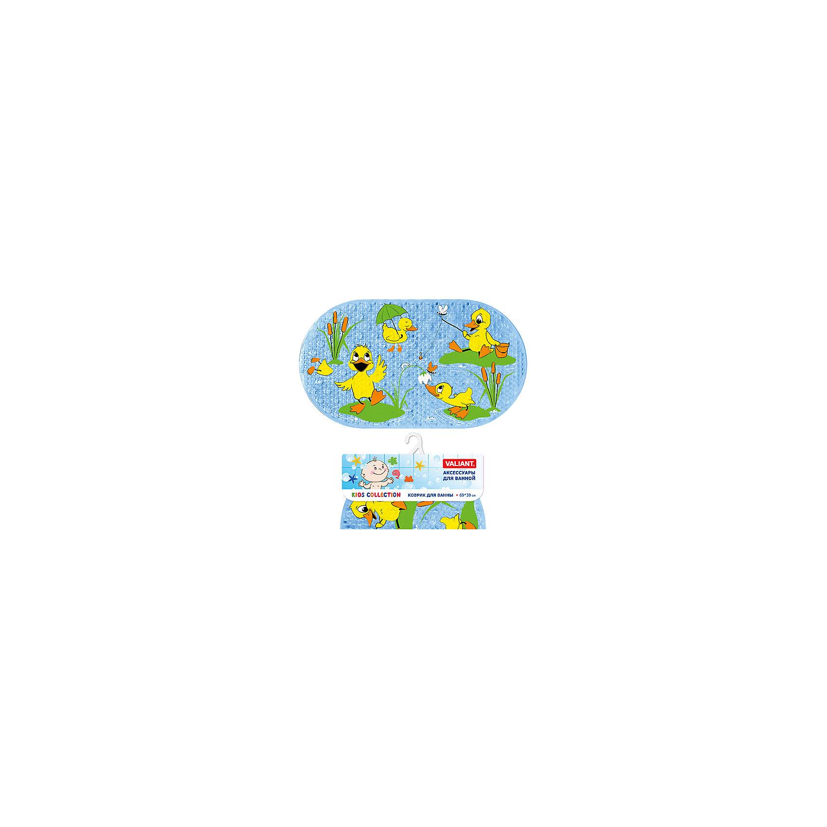 VALIANT Коврик для ванны Утята 69*39 см мини лопата штыковая truper с черенком 69 см