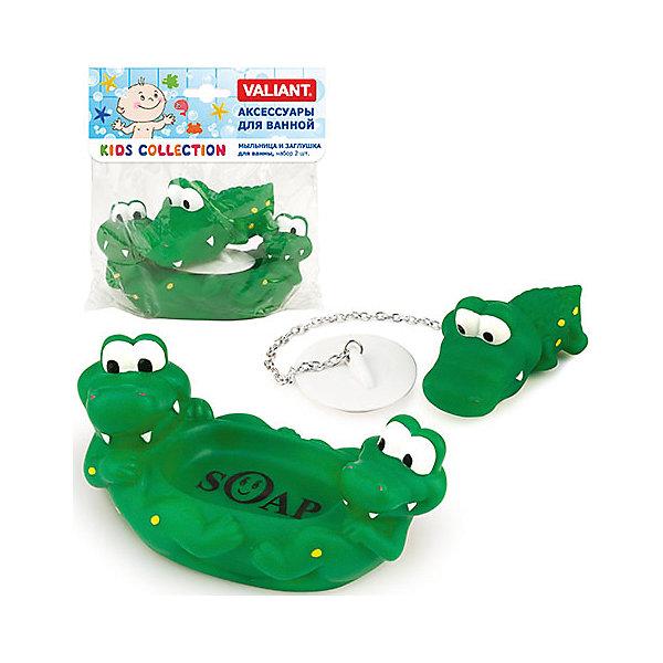 Мыльница и заглушка для ванны КрокодильчикиАксессуары для ванны<br>Мыльница и заглушка для ванны Крокодильчики– яркое и новое решение для Вашей ванны. Трогательный бытовой аксессуар гарантирует Вам и Вашим детям радостное настроение на каждый день. Дополнит коллекцию Крокодильчики: сетка настенная на присосах для аксессуаров и подставка со стаканом для зубных щеток.<br><br>Дополнительная информация: <br><br>- мыльница и заглушка для ванны, набор 2 шт., КРОКОДИЛЬЧИКИ<br>- размер: мыльница: 8*14,5*7 см.<br>             заглушка 6,5*8,5*4 см.<br>- материал: ПВХ без фталатов<br>- упаковка: PP пакет, цветная карта-держатель<br><br>Мыльницу и заглушку для ванны Крокодильчики можно купить в нашем интернет-магазине.<br>Ширина мм: 138; Глубина мм: 145; Высота мм: 70; Вес г: 139; Возраст от месяцев: -2147483648; Возраст до месяцев: 2147483647; Пол: Унисекс; Возраст: Детский; SKU: 4563361;