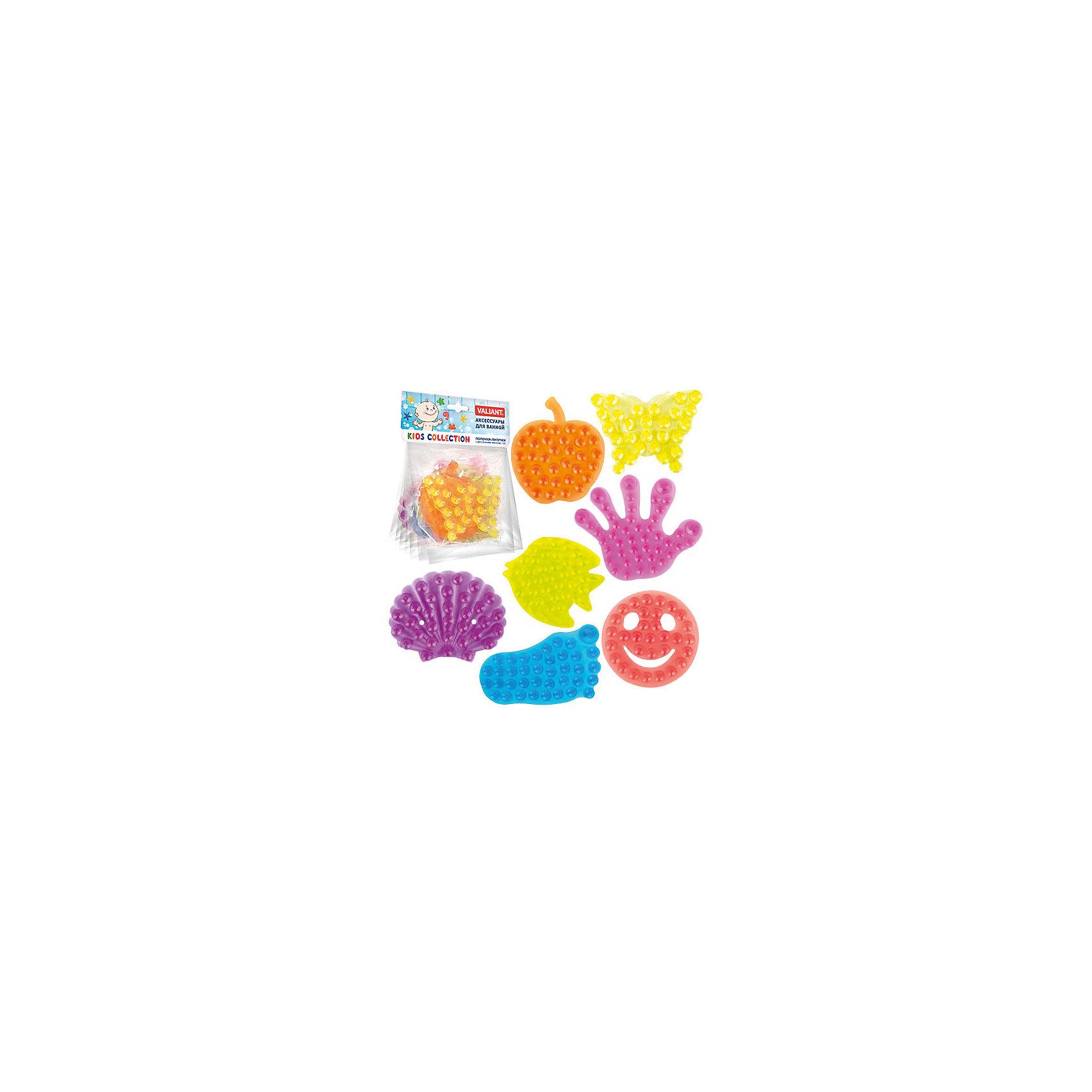 Набор полочек-липучек с двусторонними присосками, 7 штВанная комната<br>Полочки-липучки с двухсторонними присосками – это оригинальный и яркий аксессуар для ванной комнаты. С помощью присосок полочки-липучки легко и надёжно крепятся к любой гладкой поверхности, при этом отлично удерживая различные предметы: шампуни, гели, мыло, детские игрушки.<br><br>Дополнительная информация:<br><br>В наборе 7 штук<br>- материал: полимеры<br><br>Набор полочек-липучек с двусторонними присосками можно купить в нашем интернет-магазине.<br><br>Ширина мм: 135<br>Глубина мм: 8<br>Высота мм: 160<br>Вес г: 130<br>Возраст от месяцев: -2147483648<br>Возраст до месяцев: 2147483647<br>Пол: Унисекс<br>Возраст: Детский<br>SKU: 4563411