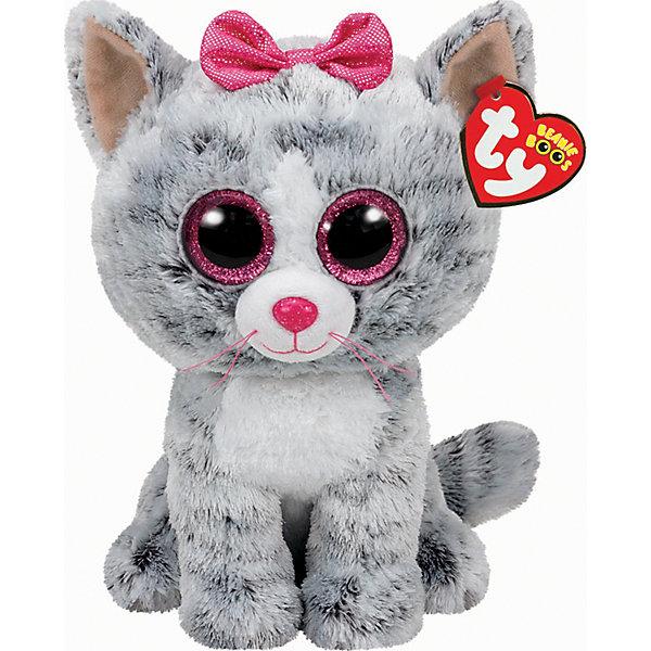 Кошка (серая) Kiki, 25 смМягкие игрушки животные<br>Кошка (серая) Kiki, 25 см – игрушка от бренда TY Inc (ТАЙ Инкорпорейтед), знаменитого своими мягкими игрушками, в качестве наполнителя для которых используются гранулы. Кошка выполнена из качественного и гипоаллергенного плюша серого цвета, на который нанесены более темные полоски, грудка и часть мордочки – белые. На голове у нее бантик. У игрушки большие выразительные глаза. Используемые материалы делают игрушку прочной, устойчивой к изменению цвета и формы, ее разрешается стирать.<br>Кошка (серая) Kiki, 25 см TY Inc непременно станет любимой игрушкой для вашего ребенка, а уникальный наполнитель будет способствовать  не  только развитию мелкой моторики пальцев, но и оказывать релаксирующее воздействие. <br><br>Дополнительная информация:<br><br>- Вид игр: сюжетно-ролевые игры, интерьерные игрушки, для коллекционирования<br>- Предназначение: для дома<br>- Материал: плюш, пластик, наполнитель ? гранулы<br>- Высота: 25 см<br>- Особенности ухода: разрешается стирка<br><br>Подробнее:<br><br>• Для детей в возрасте: от 12 месяцев и до 5 лет <br>• Страна производитель: Китай<br>• Торговый бренд: TY Inc <br><br>Кошку (серую) Kiki, 25 см можно купить в нашем интернет-магазине.<br><br>Ширина мм: 239<br>Глубина мм: 152<br>Высота мм: 119<br>Вес г: 190<br>Возраст от месяцев: 12<br>Возраст до месяцев: 60<br>Пол: Женский<br>Возраст: Детский<br>SKU: 4563499