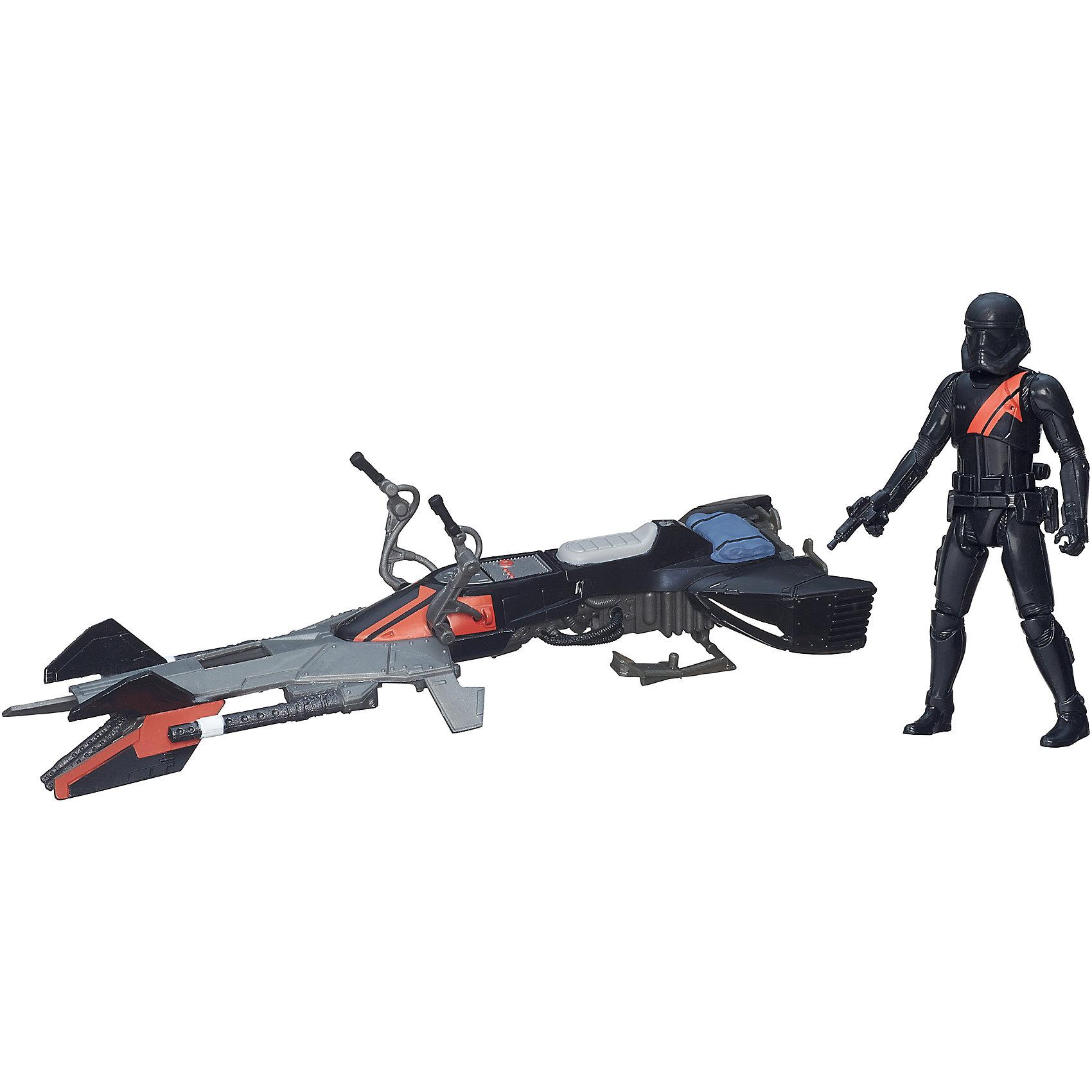 Космический корабль Класс I,  Звездные войны, B3718/B3716Коллекционные и игровые фигурки<br>Этот набор приведет в восторг всех поклонников Star Wars. В него входит фигурка особого штурмовика в черной броне с элитным спидербайком, скоростным средством передвижения, использующимся для разведки. Игрушка выполнена из высококачественного пластика, прекрасно детализирована, безопасна для детей. Собери все фигурки серии, открой для себя захватывающие истории борьбы добра со злом в галактике космических кораблей и машин!<br><br>Дополнительная информация:<br><br>- Комплектация: фигурка, спидербайк, аксессуары.<br>- Материал: пластик.<br>- Голова, руки, ноги фигурки подвижные. <br>- Размер фигурки: 9,5 см.<br>- Размер упаковки: 29,7,5х22 см. <br><br>Набор Космический корабль Класс I,  Звездные войны (Star Wars) можно купить в нашем магазине.<br><br>Ширина мм: 83<br>Глубина мм: 294<br>Высота мм: 228<br>Вес г: 261<br>Возраст от месяцев: 36<br>Возраст до месяцев: 192<br>Пол: Мужской<br>Возраст: Детский<br>SKU: 4563912