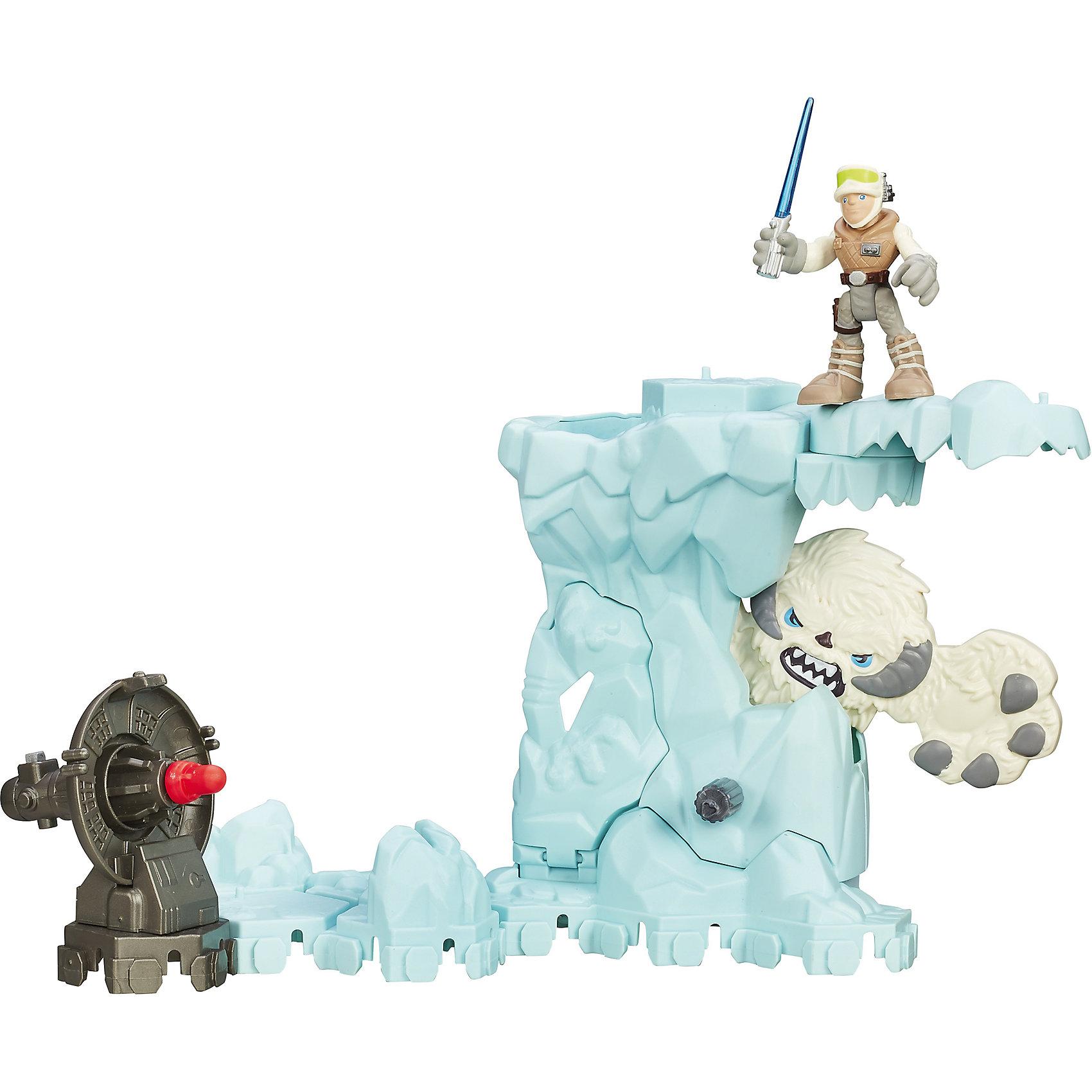 Набор Приключение, Звездные войны, PLAYSKOOL Heroes, B2031/B2030Игровые наборы фигурок<br>Набор Приключение порадует самых юных поклонников известной киносаги Star Wars. Помоги Люку Скайуокеру преодолеть грозного Вампу в ледяной пещере. Если покрутить колесо, чудовище выползет из укрытия - выстрели в него из мощного пулемета или порази световым мечом.<br>Все детали набора выполнены из высококачественного экологичного пластика с применением безопасных красителей.<br><br>Дополнительная информация:<br><br>- Материал: пластик.<br>- Размер упаковки: 20, 25,4х8 см.<br>- Высота фигурки Люка Скайуокера: 5 см. <br>- Комплектация: ледяная стена, фигурка Люка Скайуокера, фигурка Вампы, оружие, снаряд.<br>- Фигурка с подвижными конечностями. <br><br>Набор Приключение, Звездные войны, PLAYSKOOL Heroes, можно купить в нашем магазине.<br><br>Ширина мм: 81<br>Глубина мм: 254<br>Высота мм: 203<br>Вес г: 549<br>Возраст от месяцев: 36<br>Возраст до месяцев: 84<br>Пол: Мужской<br>Возраст: Детский<br>SKU: 4563931