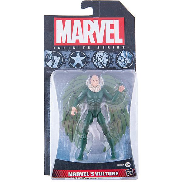 Коллекционная фигурка Марвел 9,5 см, Marvel Heroes, B1867/A6749Герои комиксов<br>Фигурка Вультура, давнего врага Человека-Паука, обязательно понравится всем поклонникам Marvel. Фигурка прекрасно детализирована, обладает подвижными конечностями и щупальцами, что позволяет ей принимать разнообразные позы, открывая еще большие возможности для различных игровых сюжетов. Игрушка изготовлена из высококачественного пластика, с применением безопасных, экологичных красителей. <br><br>Дополнительная информация:<br><br>- Материал: пластик.<br>- Размер фигурки: 9,5 см.<br>- Подвижные конечности.<br><br>Коллекционную фигурку Марвел 9,5 см, Marvel Heroes, можно купить в нашем магазине.<br>Ширина мм: 51; Глубина мм: 121; Высота мм: 229; Вес г: 150; Возраст от месяцев: 48; Возраст до месяцев: 192; Пол: Мужской; Возраст: Детский; SKU: 4563957;