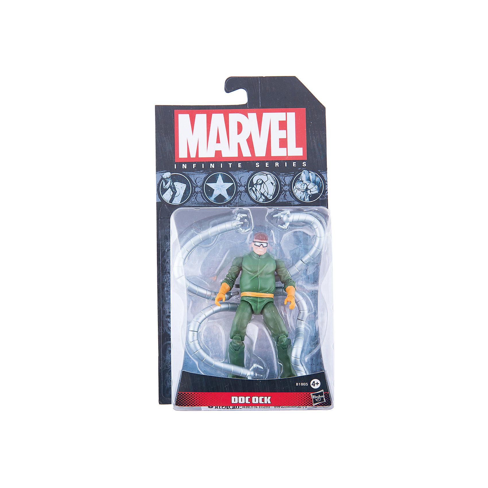 Коллекционная фигурка Марвел 9,5 см, Marvel Heroes, B1865/A6749Любимые герои<br>Фигурка Доктора Октавиуса, заклятого врага Человека-Паука, обязательно понравится всем поклонникам Marvel. Фигурка прекрасно детализирована, обладает подвижными конечностями и щупальцами, что позволяет ей принимать разнообразные позы, открывая еще большие возможности для различных игровых сюжетов. Игрушка изготовлена из высококачественного пластика, с применением безопасных, экологичных красителей. <br><br>Дополнительная информация:<br><br>- Материал: пластик.<br>- Размер фигурки: 9,5 см.<br>- Подвижные конечности.<br><br>Коллекционную фигурку Марвел 9,5 см, Marvel Heroes, можно купить в нашем магазине.<br><br>Ширина мм: 51<br>Глубина мм: 121<br>Высота мм: 229<br>Вес г: 150<br>Возраст от месяцев: 48<br>Возраст до месяцев: 192<br>Пол: Мужской<br>Возраст: Детский<br>SKU: 4563961