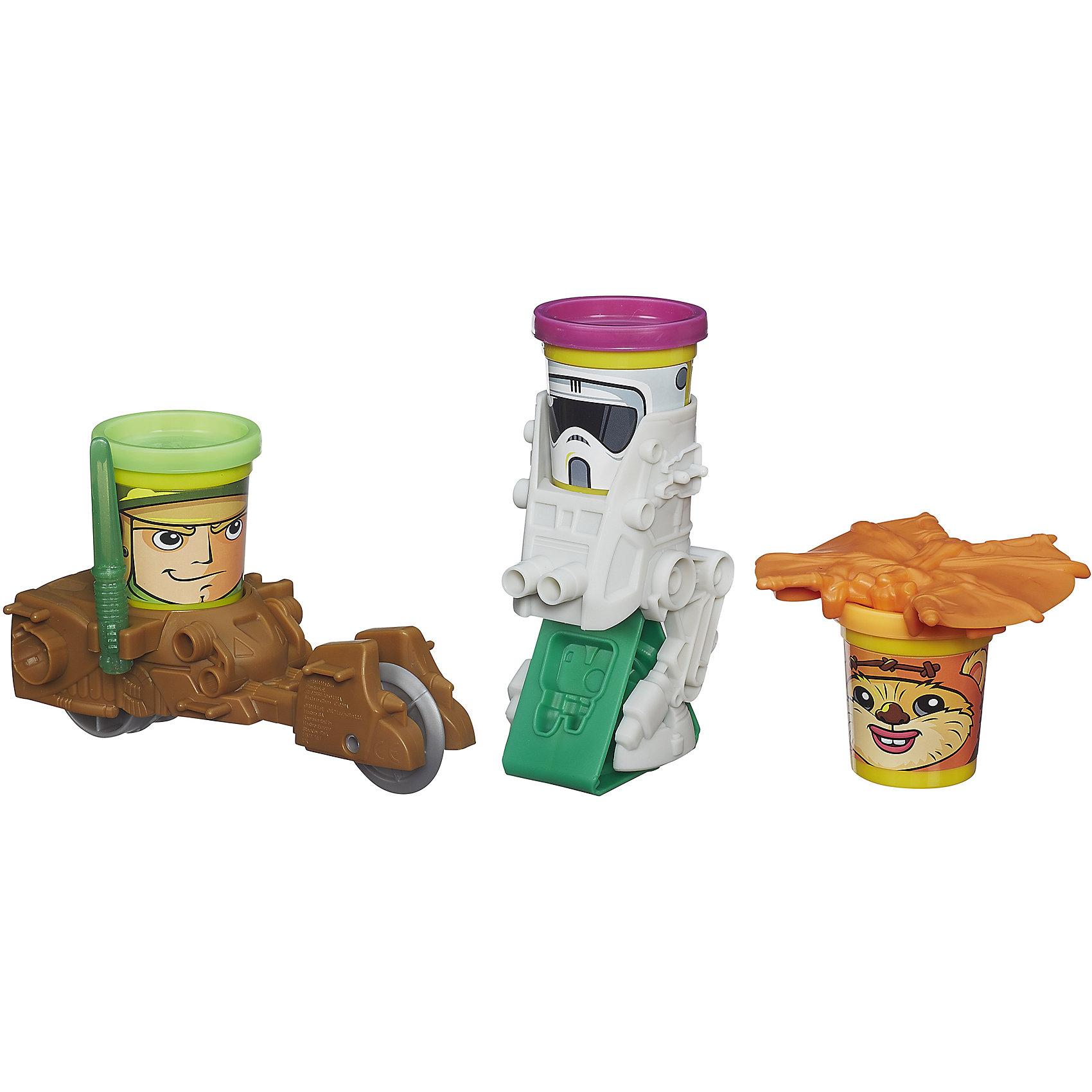 Транспортные средства героев Звездных войн, Play-Doh, var 1Звездные войны<br>Этот набор приведет в восторг всех юных любителей tar Wars. Теперь из пластилина можно слепить настоящий истребитель или крестокрыл, а потом играть с ним, как с настоящей игрушкой! Скорее перемещайся в волшебную галактику Play-Doh и отправляйся на поиски приключений!<br>Пластилин Play-Doh - уникальный материал для детского творчества. Он не прилипает к рукам, окрашен безопасным красителем, быстро высыхает и не имеет запаха. Пластилин сделан на основе натуральных съедобных продуктов, поэтому даже если ребенок проглотит его, ничего страшного не случится. <br><br>Дополнительная информация:<br><br>- Материал: пластилин, пластик.<br>- Размер упаковки: 21 x 23 x 7 см.<br>- Размер баночки пластилина: 5,5х5х5 см. <br>- Комплектация:  3 банки пластилина ( по 56 г), звездный истребитель X-wing, звездный истребитель TIE, 2 аксессуара.<br><br>Набор Транспортные средства героев Звездных войн, Play-Doh (Плей До), var 1, можно купить в нашем магазине.<br><br>Ширина мм: 67<br>Глубина мм: 203<br>Высота мм: 229<br>Вес г: 544<br>Возраст от месяцев: 36<br>Возраст до месяцев: 72<br>Пол: Мужской<br>Возраст: Детский<br>SKU: 4563962