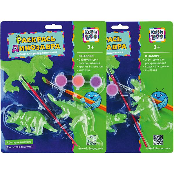 Набор Раскрась динозавра, светящийся в темноте, в ассортиментеНаборы для рисования<br>Характеристики товара:<br><br>• материал: пластик, акрил<br>• размер: 20х24х4 см<br>• вес: 100 г<br>• комплектация: 3 динозавра, краски 3 цвета, кисть<br>• фигурки светятся в темноте<br>• развивающая<br>• возраст: от трех лет<br>• страна бренда: Финляндия<br>• страна изготовитель: Китай<br><br>Такая раскраска станет отличным подарком малышам! Она отличается тем, что сделана в виде объемных динозавров! Ддля раскрашивания к ней прилагаются кисть и краски. С помощью раскрашивания ребенок не только весело проведет время, он будет тренировать внимательность, абстрактное мышление, логику, усидчивость, мелкую моторику и творческие способности. <br>Раскраска выпущена в удобном формате. Изделие производится из качественных и проверенных материалов, которые безопасны для детей.<br><br>Набор Раскрась динозавра, светящийся в темноте, от бренда KriBly Boo можно купить в нашем интернет-магазине.<br>Ширина мм: 240; Глубина мм: 200; Высота мм: 40; Вес г: 125; Возраст от месяцев: 36; Возраст до месяцев: 2147483647; Пол: Мужской; Возраст: Детский; SKU: 4563990;