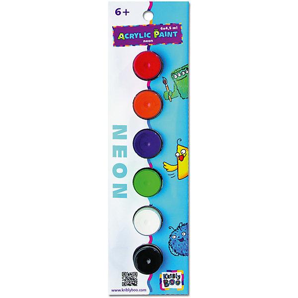 Набор акриловых красок Неон с кисточкой, 6 цветовКраски и кисточки<br>Набор акриловых красок Неон с кисточкой, 6 цветов – этот набор для творчества идеален для вашего юного художника.<br>В набор входят 6 баночек с разноцветными неоновыми акриловыми красками. Краски предназначены для росписи по гипсу, дереву, картону и бумаге и позволят создать просто волшебные шедевры. Небольшие баночки с касками удобно разместятся в любом детском рюкзачке, а плотно закрывающиеся крышки защитят от протекания. Рисование способствует развитию творческого мышления, мелкой моторики рук, цветового восприятия, фантазии и воображения ребенка.<br><br>Дополнительная информация:<br><br>- В наборе: 6 баночек неоновых акриловых красок по 4,5 мл., кисточка<br>- Цвета: фиолетовый, розовый, красный, оранжевый, желтый, зеленый<br>- Размер упаковки: 24х7х3 см.<br>- Вес: 66 гр.<br><br>Набор акриловых красок Неон с кисточкой, 6 цветов можно купить в нашем интернет-магазине.<br><br>Ширина мм: 240<br>Глубина мм: 70<br>Высота мм: 30<br>Вес г: 66<br>Возраст от месяцев: 36<br>Возраст до месяцев: 2147483647<br>Пол: Унисекс<br>Возраст: Детский<br>SKU: 4563996