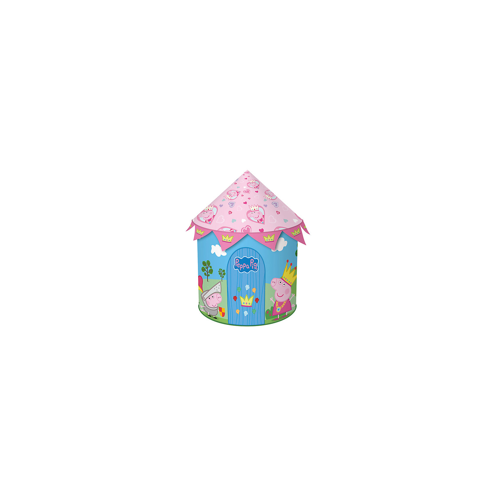 Росмэн Игровая палатка-замок , Свинка Пеппа origami пазл замок 160 деталей свинка пеппа