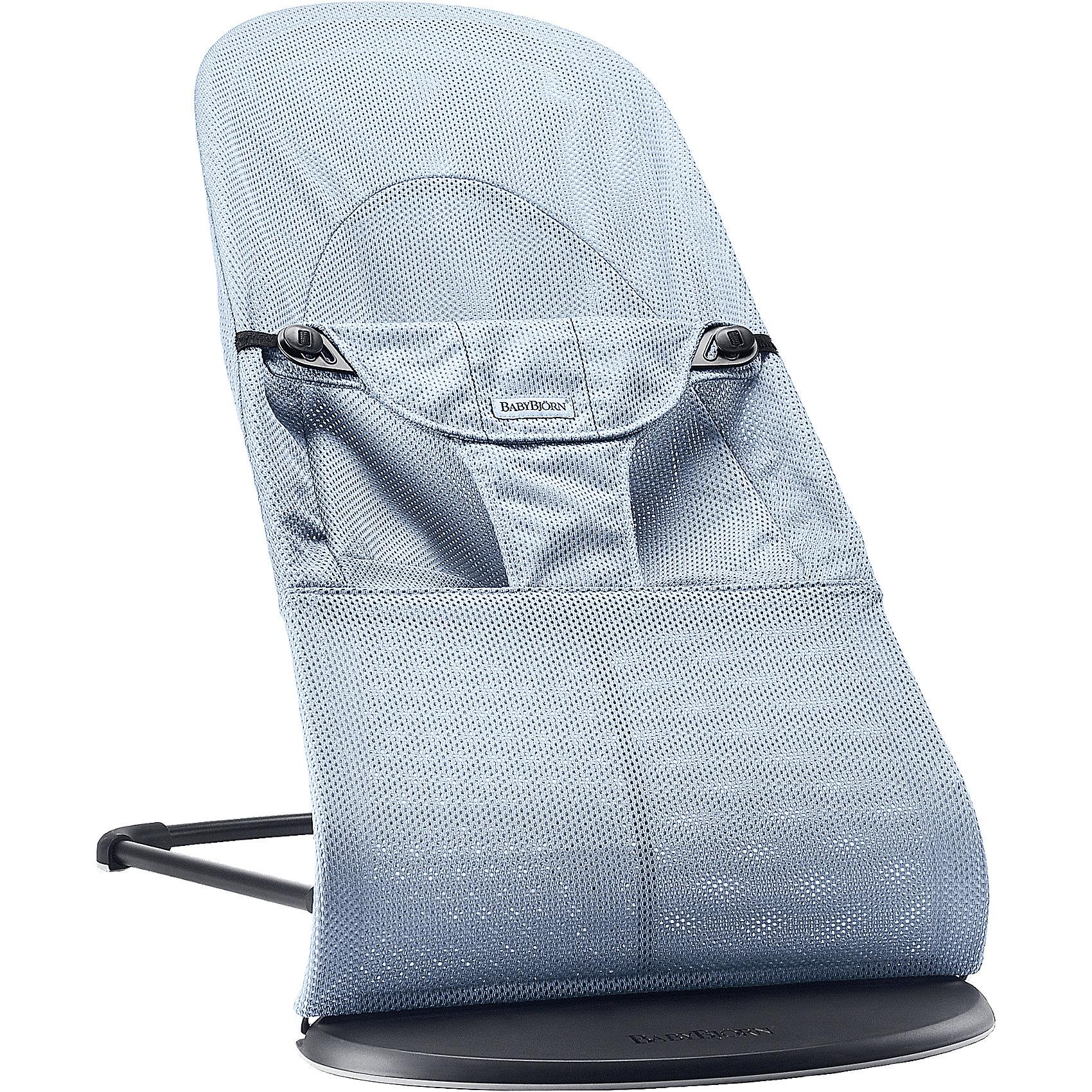 BabyBjorn Кресло-шезлонг Balance Soft Air, BabyBjorn, голубой кресла качалки шезлонги babybjorn кресло шезлонг bliss mesh
