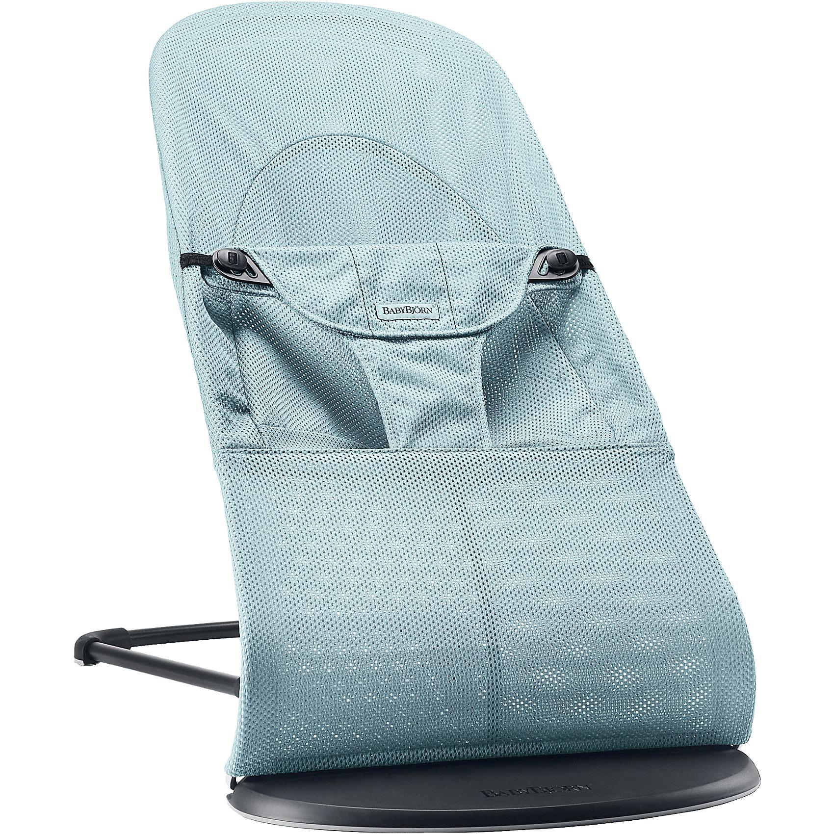 BabyBjorn Кресло-шезлонг Balance Soft Air, BabyBjorn, бирюзовый кресла качалки шезлонги babybjorn кресло шезлонг bliss mesh