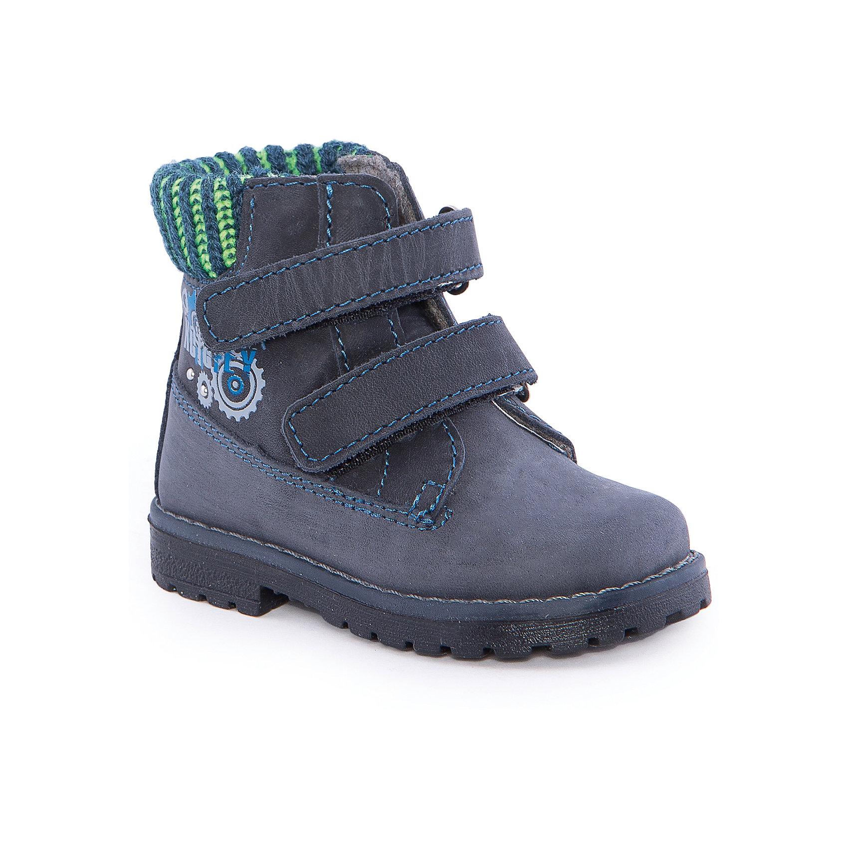 Ботинки для мальчика КотофейБотинки для мальчика от известного российского бренда Котофей <br><br>Модные и удобные ботинки изготовлены из натуральной кожи, выполнены в синем цвете. <br>Верх сделан из материала, обеспечивающего воздухопроницаемость и вентиляцию ноги. Специальная подошва позволяет избегать скольжения практически на любой поверхности.<br><br>Особенности модели:<br><br>- цвет: синий;<br>- устойчивая подошва;<br>- декорированы принтом;<br>- застежка: липучка;<br>- вид крепления обуви: клеевой;<br>- анатомическая стелька;<br>- качественные материалы;<br>- модный дизайн.<br><br>Дополнительная информация:<br><br>Температурный режим: от +5° до +20°С.<br><br>Состав: <br><br>верх - натуральная кожа;<br>подкладка - байка;<br>подошва - ТЭП.<br><br>Ботинки для мальчика Котофей можно купить в нашем магазине.<br><br>Ширина мм: 262<br>Глубина мм: 176<br>Высота мм: 97<br>Вес г: 427<br>Цвет: синий<br>Возраст от месяцев: 15<br>Возраст до месяцев: 18<br>Пол: Мужской<br>Возраст: Детский<br>Размер: 22,21,20<br>SKU: 4565576