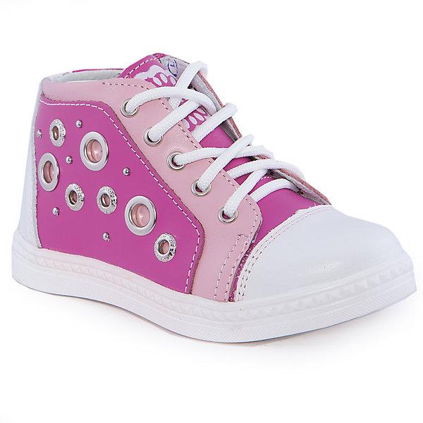 Ботинки для девочки КотофейОбувь для малышей<br>Ботинки для девочки от известного российского бренда Котофей <br><br>Стильные ботинки изготовлены из натуральной кожи, выполнены в красивой расцветке. <br>Верх сделан из материала, обеспечивающего ногам комфорт. Толстая рифленая подошва позволяет избегать скольжения практически на любой поверхности.<br><br>Особенности модели:<br><br>- цвет: белый, розовый;<br>- устойчивая подошва;<br>- декорированы перфорацией, принтом и клепками;<br>- застежка: шнуровка, молния;<br>- вид крепления обуви: клеевой;<br>- анатомическая стелька;<br>- качественные материалы;<br>- защита пальцев и пятки;<br>- модный дизайн.<br><br>Дополнительная информация:<br><br>Температурный режим: от 0° до +15°С.<br><br>Состав: <br><br>верх - натуральная кожа;<br>подкладка - кожа;<br>подошва - ТЭП.<br><br>Ботинки для девочки Котофей можно купить в нашем магазине.<br><br>Ширина мм: 262<br>Глубина мм: 176<br>Высота мм: 97<br>Вес г: 427<br>Цвет: белый<br>Возраст от месяцев: 24<br>Возраст до месяцев: 36<br>Пол: Женский<br>Возраст: Детский<br>Размер: 26,25,24,28,29,27<br>SKU: 4565660