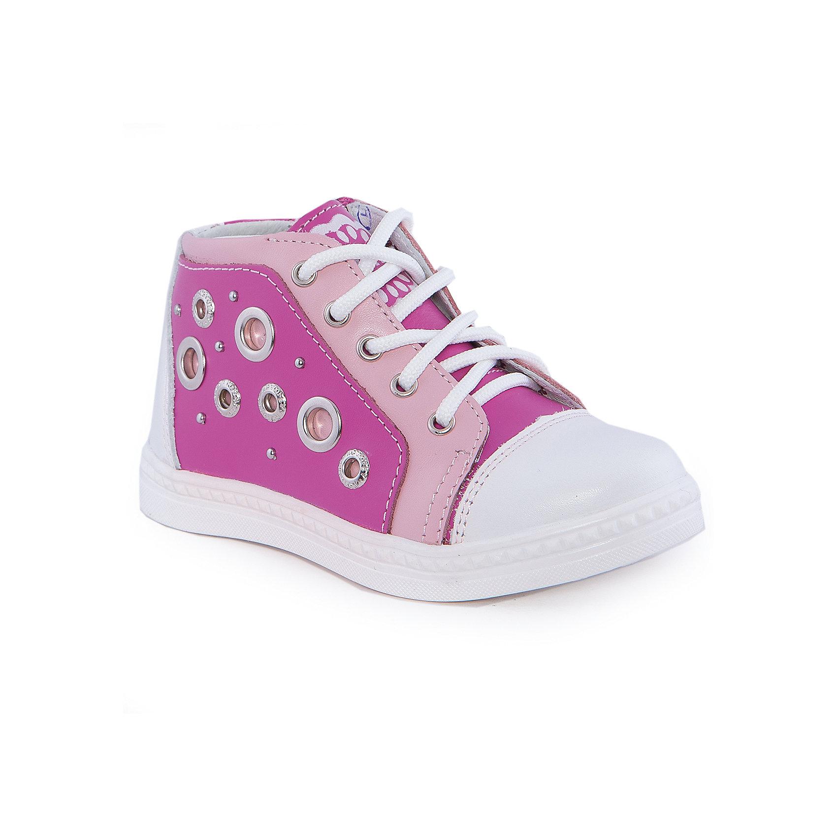 Ботинки для девочки КотофейБотинки<br>Ботинки для девочки от известного российского бренда Котофей <br><br>Стильные ботинки изготовлены из натуральной кожи, выполнены в красивой расцветке. <br>Верх сделан из материала, обеспечивающего ногам комфорт. Толстая рифленая подошва позволяет избегать скольжения практически на любой поверхности.<br><br>Особенности модели:<br><br>- цвет: белый, розовый;<br>- устойчивая подошва;<br>- декорированы перфорацией, принтом и клепками;<br>- застежка: шнуровка, молния;<br>- вид крепления обуви: клеевой;<br>- анатомическая стелька;<br>- качественные материалы;<br>- защита пальцев и пятки;<br>- модный дизайн.<br><br>Дополнительная информация:<br><br>Температурный режим: от 0° до +15°С.<br><br>Состав: <br><br>верх - натуральная кожа;<br>подкладка - кожа;<br>подошва - ТЭП.<br><br>Ботинки для девочки Котофей можно купить в нашем магазине.<br><br>Ширина мм: 262<br>Глубина мм: 176<br>Высота мм: 97<br>Вес г: 427<br>Цвет: белый<br>Возраст от месяцев: 21<br>Возраст до месяцев: 24<br>Пол: Женский<br>Возраст: Детский<br>Размер: 24,25,26,28,29,27<br>SKU: 4565660