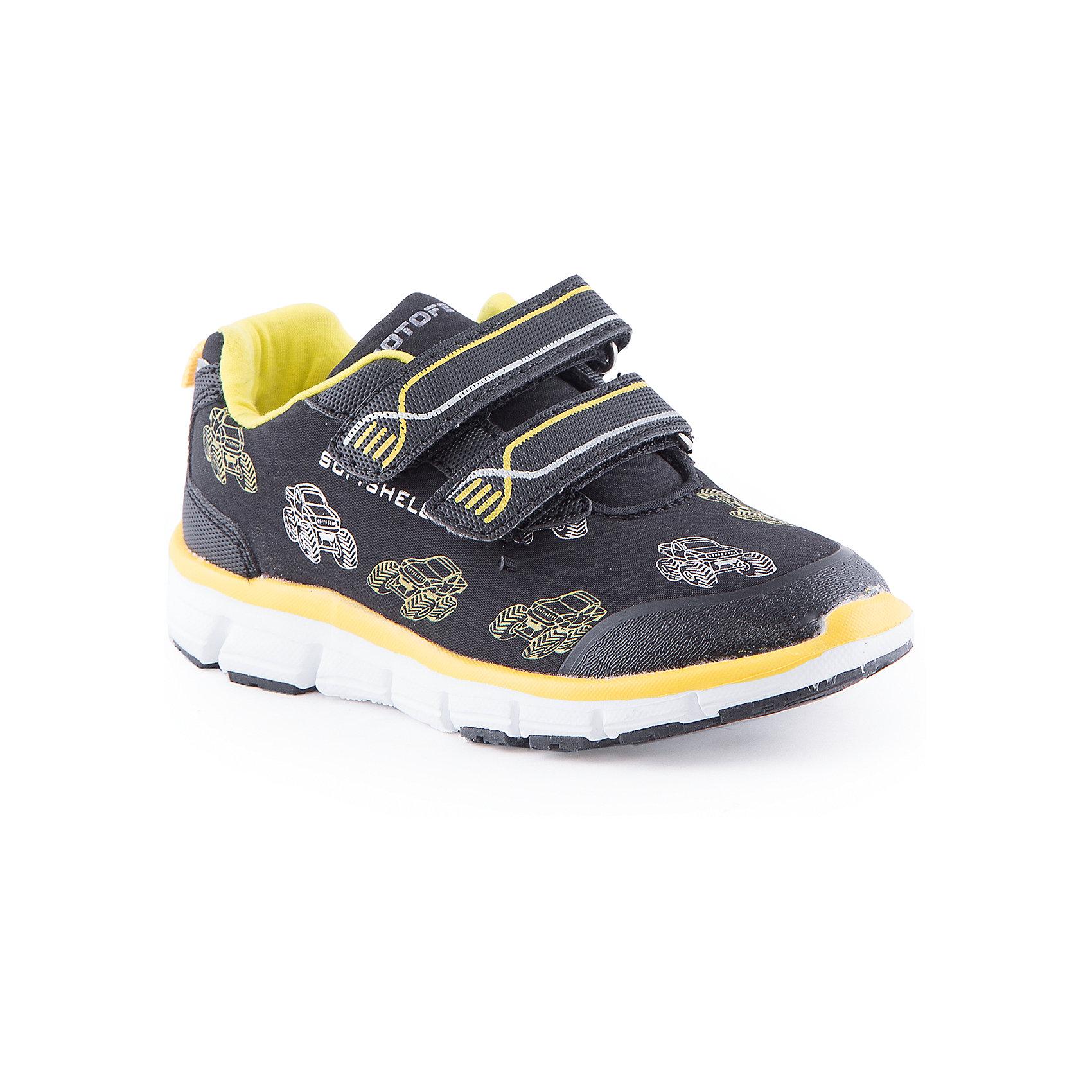 Кроссовки для мальчика КотофейКроссовки<br>Полуботинки для мальчика от известного российского бренда Котофей <br><br>Модные яркие полуботинки помогут защитить детские ножки от прохлады и обеспечат удобство. Они легко надеваются, комфортно садятся по ноге. <br>Изделия украшены яркими желтыми элементами.<br><br>Особенности модели:<br><br>- цвет - черный;<br>- декорированы принтом;<br>- верх - дышащий;<br>- вид крепления – клеевой;<br>- защита пальцев;<br>- амортизирующая устойчивая подошва;<br>- застежка - липучки.<br><br>Дополнительная информация:<br><br>Температурный режим:<br><br>от +10° С до +20° С<br><br>Состав:<br>верх – комбинированный материал;<br>подкладка - комбинированный материал;<br>подошва - филон+ТЭП.<br><br>Полуботинки для мальчика Котофей можно купить в нашем магазине.<br><br>Ширина мм: 262<br>Глубина мм: 176<br>Высота мм: 97<br>Вес г: 427<br>Цвет: черный<br>Возраст от месяцев: 24<br>Возраст до месяцев: 24<br>Пол: Мужской<br>Возраст: Детский<br>Размер: 25,30,29,26,28,27<br>SKU: 4565851