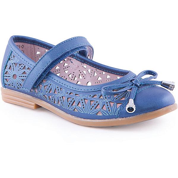 Туфли для девочки КотофейНарядная обувь<br>Туфли для девочки от известного российского бренда Котофей <br><br>Удобные туфли выполнены в красивом синем цвете, украшены перфорацией. <br>Модель легко надевается. Удобная подошва позволяет избегать скольжения практически на любой поверхности.<br><br>Особенности модели:<br><br>- цвет: синий;<br>- тонкая гибкая подошва;<br>- застежка: липучка;<br>- вид крепления обуви: клеевой;<br>- качественные материалы;<br>- декорированы вырубленным узором и бантом;<br>- хорошее облегание.<br><br>Дополнительная информация:<br><br>Состав: <br><br>верх - искусственная кожа;<br>подошва - ТЭП.<br><br>Туфли для девочки Котофей можно купить в нашем магазине.<br><br>Ширина мм: 227<br>Глубина мм: 145<br>Высота мм: 124<br>Вес г: 325<br>Цвет: синий<br>Возраст от месяцев: 72<br>Возраст до месяцев: 84<br>Пол: Женский<br>Возраст: Детский<br>Размер: 30,34,31,32,33,35<br>SKU: 4565892