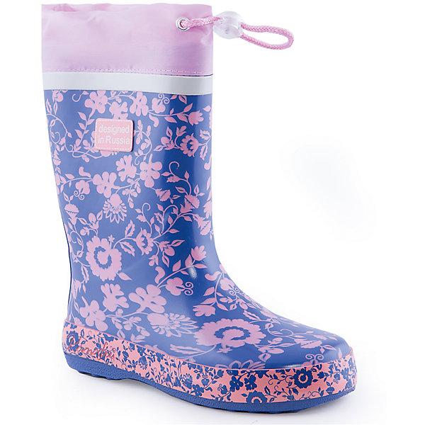 Резиновые сапоги для девочки Котофей