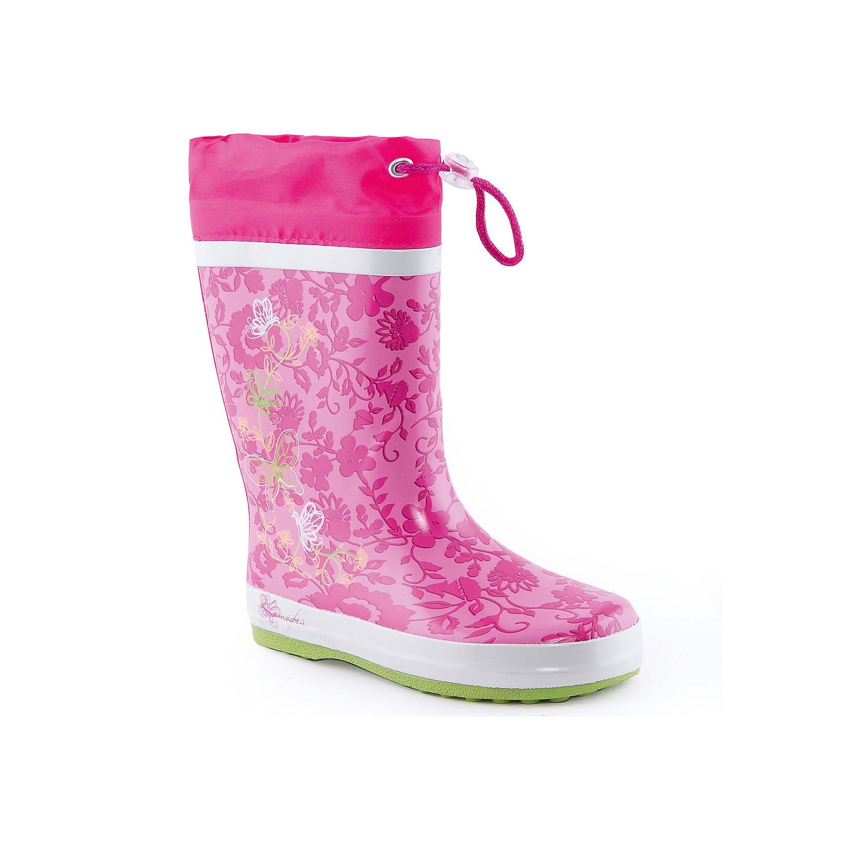 Резиновые сапожки для девочки КотофейСапожки для девочки от известного российского бренда Котофей <br><br>Яркие модные сапоги сделаны из качественной резины. Они позволят защитить ноги ребенка от сырости.<br>Высокое голенище с утяжкой защитит одежду от грязи и влаги.<br><br>Отличительные особенности модели:<br><br>- цвет: розовый;<br>- удобная колодка;<br>- утяжка со стоппером на голенище;<br>- качественные материалы;<br>- толстая устойчивая подошва;<br>- сделаны с помощью горячей вулканизации;<br>- текстильная подкладка;<br>- декорированы принтом.<br><br>Дополнительная информация:<br><br>Температурный режим: от +5° С до +25° С.<br><br>Состав:<br>верх - резина;<br>подкладка - текстиль;<br>подошва - резина.<br><br>Сапожки для девочки Котофей можно купить в нашем магазине.<br><br>Ширина мм: 257<br>Глубина мм: 180<br>Высота мм: 130<br>Вес г: 420<br>Цвет: розовый<br>Возраст от месяцев: 72<br>Возраст до месяцев: 84<br>Пол: Женский<br>Возраст: Детский<br>Размер: 30,31,35,33,34,32<br>SKU: 4565913