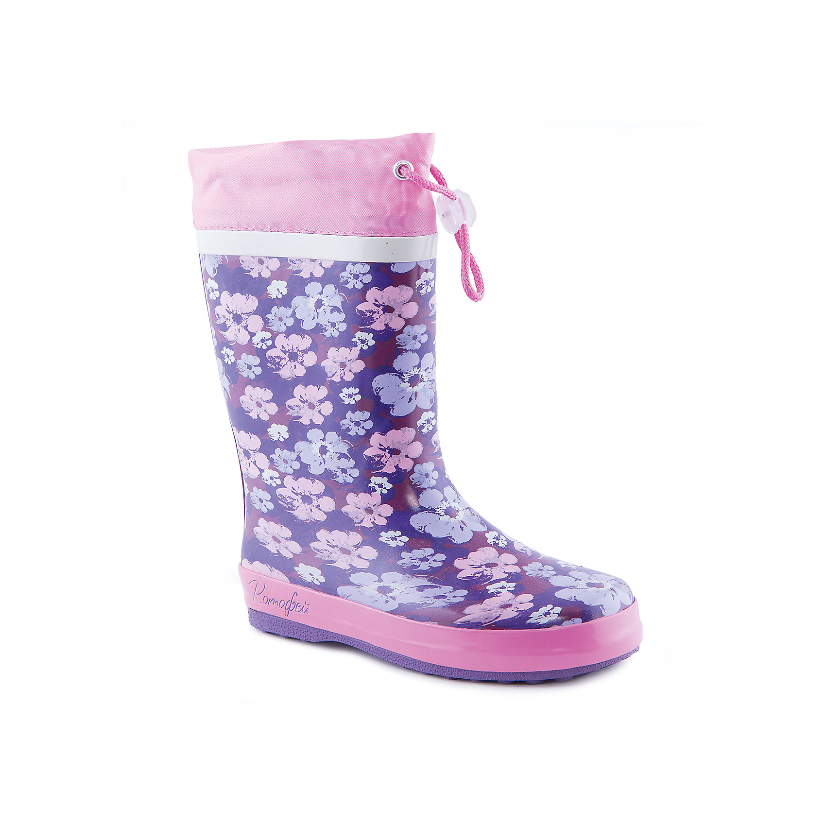 Резиновые сапоги для девочки КотофейСапожки для девочки от известного российского бренда Котофей <br><br>Яркие модные сапоги сделаны из качественной резины. Они позволят защитить ноги ребенка от сырости.<br>Высокое голенище с утяжкой защитит одежду от грязи и влаги.<br><br>Отличительные особенности модели:<br><br>- цвет: розовый, фиолетовый;<br>- удобная колодка;<br>- утяжка со стоппером на голенище;<br>- качественные материалы;<br>- толстая устойчивая подошва;<br>- сделаны с помощью горячей вулканизации;<br>- текстильная подкладка;<br>- декорированы принтом.<br><br>Дополнительная информация:<br><br>Температурный режим: от +5° С до +25° С.<br><br>Состав:<br>верх - резина;<br>подкладка - текстиль;<br>подошва - резина.<br><br>Сапожки для девочки Котофей можно купить в нашем магазине.<br><br>Ширина мм: 257<br>Глубина мм: 180<br>Высота мм: 130<br>Вес г: 420<br>Цвет: фиолетовый<br>Возраст от месяцев: 96<br>Возраст до месяцев: 108<br>Пол: Женский<br>Возраст: Детский<br>Размер: 32,31,33,35,34,30<br>SKU: 4565920