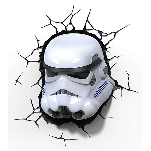 Пробивной 3D светильник Штурмовик, Звёздные ВойныЗвездные войны Посуда<br>Пробивной 3D светильник Штурмовик, Звёздные Войны - этот светильник станет оригинальным декором для комнаты и подарит приятный мягкий свет.<br>Оригинальный реалистичный пробивной 3D светильник, выполненный в виде шлема Штормтрупера из саги Звездные войны, понравится и детям, и взрослым. Он создает необыкновенную реалистичную иллюзию того, что у вас, что то воткнуто в стену, за счет своей специальной формы и 3D наклейки, имитирующей трещины. Помимо яркого, даже шокирующие-оригинального дизайна, пробивной светильник обладает функциональным качеством — дарит мягкий приглушенный свет, что позволяет использовать его как ночник над кроватью. Светильник безопасен для малыша, так как работает от батареек и не нагревается. Модель достаточно просто устанавливается на стене с помощью шурупов, входящих в комплект.<br><br>Дополнительная информация:<br><br>- В комплекте: светильник; 3D наклейка-имитация трещин; 2 шурупа<br>- Товар предназначен для детей старше 3 лет<br>- Безопасный: без проводов, работает от батареек (3хАА, не входят в комплект)<br>- Работает на светодиодах<br>- Источник света: LED лампа<br>- Не нагревается: всегда можно дотронуться до изделия<br>- Фантастический: выглядит превосходно в любое время суток<br>- Удобный: простая установка (автоматическое выключение через полчаса непрерывной работы)<br>- Материал: пластик<br>- Размер упаковки: 26,7х14,3х29,7 см.<br>- Вес: 0,85 кг.<br>- ВНИМАНИЕ! Содержит мелкие детали, использовать под непосредственным наблюдением взрослых<br>- Страна происхождения: Китай<br>- Дизайн и разработка: Канада<br><br>Пробивной 3D светильник Штурмовик, Звёздные Войны можно купить в нашем интернет-магазине.<br>Ширина мм: 267; Глубина мм: 143; Высота мм: 297; Вес г: 850; Возраст от месяцев: 36; Возраст до месяцев: 2147483647; Пол: Унисекс; Возраст: Детский; SKU: 4566018;