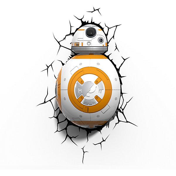 Пробивной 3D светильник Дроид BB-8, Звёздные ВойныЗвездные войны Посуда<br>Пробивной 3D светильник Дроид BB-8, Звёздные Войны – светильник станет оригинальным декором для комнаты и подарит приятный мягкий свет.<br>Оригинальный реалистичный пробивной 3D светильник, выполненный в виде Дроида BB-8, героя седьмого эпизода саги «Звёздные войны: Пробуждение силы», понравится и детям, и взрослым. Он создает необыкновенную реалистичную иллюзию того, что у вас, что то воткнуто в стену, за счет своей специальной формы и 3D наклейки, имитирующей трещины. Помимо яркого, даже шокирующие-оригинального дизайна, пробивной светильник обладает функциональным качеством — дарит мягкий приглушенный свет, что позволяет использовать его как ночник над кроватью. Светильник безопасен для малыша, так как работает от батареек и не нагревается. Модель достаточно просто устанавливается на стене с помощью шурупов, входящих в комплект.<br><br>Дополнительная информация:<br><br>- В комплекте: светильник; 3D наклейка-имитация трещин; 2 шурупа<br>- Товар предназначен для детей старше 3 лет<br>- Безопасный: без проводов, работает от батареек (3хАА, не входят в комплект)<br>- Работает на светодиодах<br>- Источник света: LED лампа<br>- Не нагревается: всегда можно дотронуться до изделия<br>- Фантастический: выглядит превосходно в любое время суток<br>- Удобный: простая установка (автоматическое выключение через полчаса непрерывной работы)<br>- Материал: пластик<br>- Размер упаковки: 25,4х12,2х32,8 см.<br>- Вес: 0,8 кг.<br>- ВНИМАНИЕ! Содержит мелкие детали, использовать под непосредственным наблюдением взрослых<br>- Страна происхождения: Китай<br>- Дизайн и разработка: Канада<br><br>Пробивной 3D светильник Дроид BB-8, Звёздные Войны можно купить в нашем интернет-магазине.<br><br>Ширина мм: 254<br>Глубина мм: 122<br>Высота мм: 328<br>Вес г: 800<br>Возраст от месяцев: 36<br>Возраст до месяцев: 2147483647<br>Пол: Унисекс<br>Возраст: Детский<br>SKU: 4566021