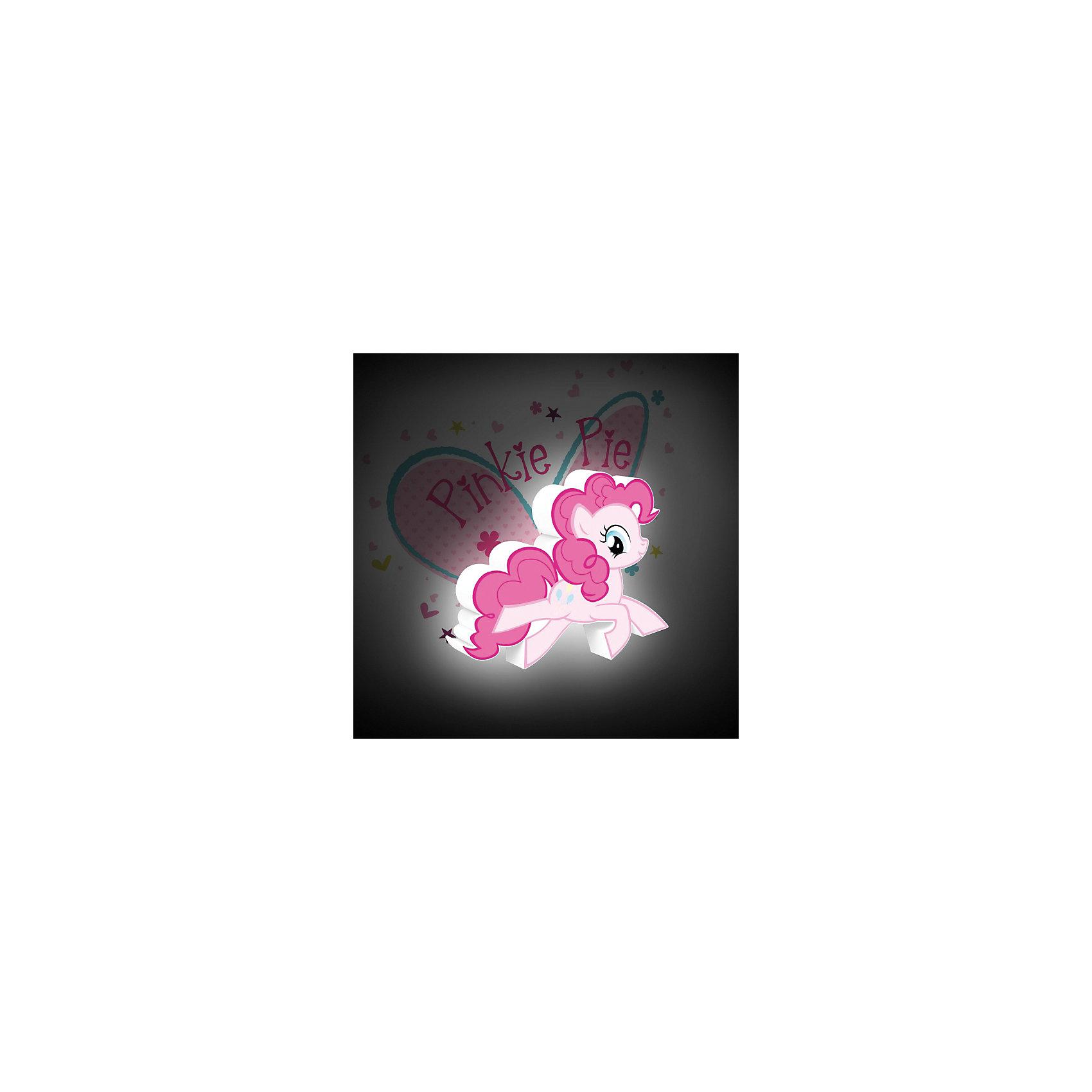 Пробивной мини 3D светильник Пинки Пай, My Little PonyПробивной мини 3D светильник Пинки Пай, My Little Pony – станет оригинальным декором для комнаты и подарит приятный мягкий свет.<br>Оригинальный пробивной 3D светильник, выполненный в виде пони Пинки Пай – героини мультсериала «My Little Pony», создаст сказочную атмосферу в детской комнате. Мягкое приглушенное свечение наполнит детскую комнату теплом и уютом и избавит вашу малышку от ночных страхов. В основе работы светильника заложена светодиодная LED-технология, благодаря которой - он лёгкий, затрачивает небольшое количество энергии, не нагревается. Включение и выключения светильника выполняется путем передвижения рычажка. Приятным дополнением к светильнику служат тематические наклейки для декора.<br><br>Дополнительная информация:<br><br>- В комплекте: светильник; наклейки; крепеж<br>- Товар предназначен для детей старше 3 лет<br>- Безопасный: без проводов, работает от батареек (2хААА, не входят в комплект)<br>- Используются светодиоды: LED технология<br>- Не нагревается: всегда можно дотронуться до изделия<br>- Фантастический: выглядит превосходно в любое время суток<br>- Удобный: простая установка (автоматическое выключение через полчаса непрерывной работы)<br>- Материал: пластик, металл<br>- Размер светильника: 14x2,5x11,4 см.<br>- Размер упаковки: 16,5х3,6х14 см.<br>- Вес: 0,16 кг.<br>- ВНИМАНИЕ! Содержит мелкие детали, использовать под непосредственным наблюдением взрослых<br>- Страна происхождения: Китай<br>- Дизайн и разработка: Канада<br><br>Пробивной мини 3D светильник Пинки Пай, My Little Pony можно купить в нашем интернет-магазине.<br><br>Ширина мм: 165<br>Глубина мм: 36<br>Высота мм: 140<br>Вес г: 160<br>Возраст от месяцев: 36<br>Возраст до месяцев: 2147483647<br>Пол: Унисекс<br>Возраст: Детский<br>SKU: 4566029