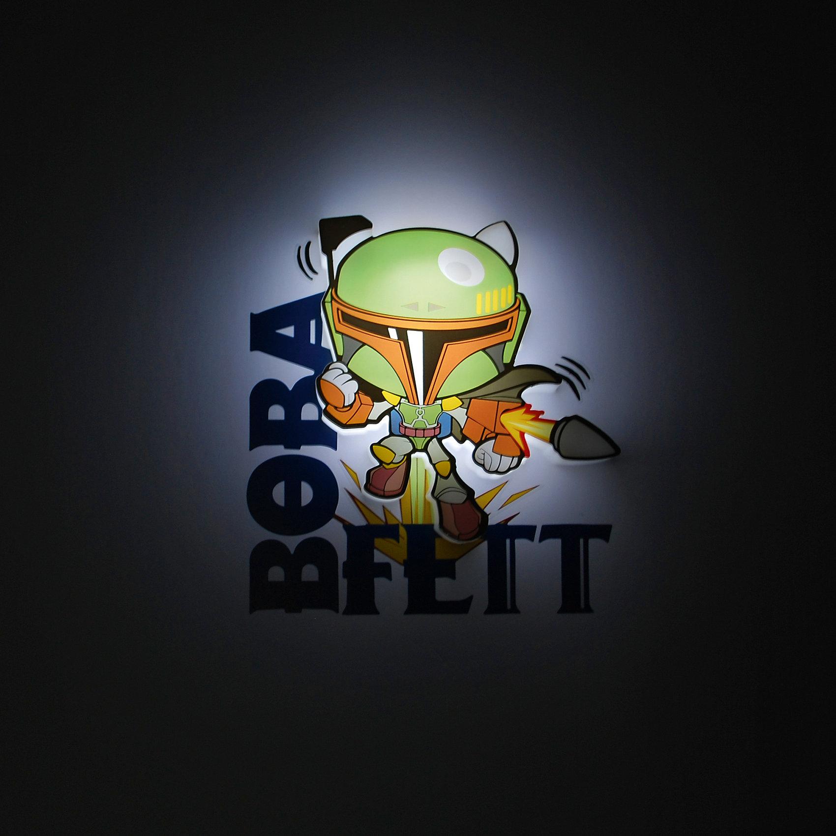 Пробивной мини 3D светильник Боба Фетт, Звёздные ВойныПробивной мини 3D светильник Боба Фетт, Звёздные Войны – станет оригинальным декором для комнаты и подарит приятный мягкий свет.<br>Оригинальный пробивной 3D светильник, выполненный в виде охотника за головами Боба Фетта – персонажа саги Звездные войны, создаст сказочную атмосферу в детской комнате. Мягкое приглушенное свечение наполнит детскую комнату теплом и уютом и избавит ребенка от ночных страхов. В основе работы светильника заложена светодиодная LED-технология, благодаря которой - он лёгкий, затрачивает небольшое количество энергии, не нагревается. Включение и выключения светильника выполняется путем передвижения рычажка. Приятным дополнением к светильнику служат тематические наклейки для декора.<br><br>Дополнительная информация:<br><br>- В комплекте: светильник; наклейки; крепеж<br>- Товар предназначен для детей старше 3 лет<br>- Безопасный: без проводов, работает от батареек (2хААА, не входят в комплект)<br>- Используются светодиоды: LED технология<br>- Не нагревается: всегда можно дотронуться до изделия<br>- Фантастический: выглядит превосходно в любое время суток<br>- Удобный: простая установка (автоматическое выключение через полчаса непрерывной работы)<br>- Материал: пластик, металл<br>- Размер светильника: 12,7x2,5x12,7 см.<br>- Размер упаковки: 16,9х4,1х16 см.<br>- Вес: 160 г.<br>- ВНИМАНИЕ! Содержит мелкие детали, использовать под непосредственным наблюдением взрослых<br>- Страна происхождения: Китай<br>- Дизайн и разработка: Канада<br><br>Пробивной мини 3D светильник Боба Фетт, Звёздные Войны можно купить в нашем интернет-магазине.<br><br>Ширина мм: 169<br>Глубина мм: 41<br>Высота мм: 160<br>Вес г: 160<br>Возраст от месяцев: 36<br>Возраст до месяцев: 2147483647<br>Пол: Унисекс<br>Возраст: Детский<br>SKU: 4566031