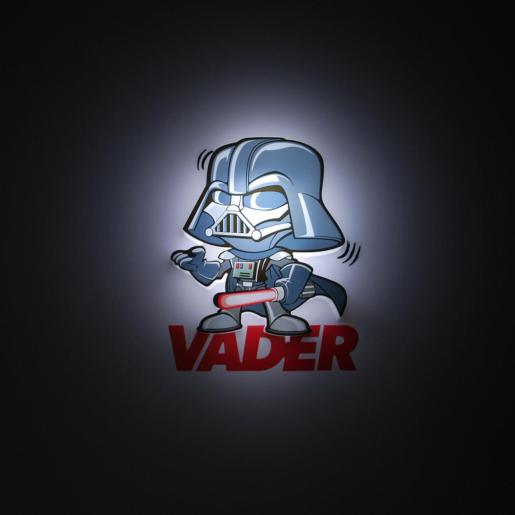 Пробивной мини 3D светильник Дарт Вейдер, Звёздные ВойныЛампы, ночники, фонарики<br>Пробивной мини 3D светильник Дарт Вейдер, Звёздные Войны – станет оригинальным декором для комнаты и подарит приятный мягкий свет.<br>Оригинальный пробивной 3D светильник, выполненный в виде Дарта Вейдера – героя саги Звездные войны, создаст сказочную атмосферу в детской комнате. Мягкое приглушенное свечение наполнит детскую комнату теплом и уютом и избавит ребенка от ночных страхов. В основе работы светильника заложена светодиодная LED-технология, благодаря которой - он лёгкий, затрачивает небольшое количество энергии, не нагревается. Включение и выключения светильника выполняется путем передвижения рычажка. Приятным дополнением к светильнику служат тематические наклейки для декора.<br><br>Дополнительная информация:<br><br>- В комплекте: светильник; наклейки; крепеж<br>- Товар предназначен для детей старше 3 лет<br>- Безопасный: без проводов, работает от батареек (2хААА, не входят в комплект)<br>- Используются светодиоды: LED технология<br>- Не нагревается: всегда можно дотронуться до изделия<br>- Фантастический: выглядит превосходно в любое время суток<br>- Удобный: простая установка (автоматическое выключение через полчаса непрерывной работы)<br>- Материал: пластик, металл<br>- Размер светильника: 13,2х12,5х3 см.<br>- Размер упаковки: 16,9х4,1х16 см.<br>- Вес: 160 г.<br>- ВНИМАНИЕ! Содержит мелкие детали, использовать под непосредственным наблюдением взрослых<br>- Страна происхождения: Китай<br>- Дизайн и разработка: Канада<br><br>Пробивной мини 3D светильник Дарт Вейдер, Звёздные Войны можно купить в нашем интернет-магазине.<br><br>Ширина мм: 169<br>Глубина мм: 41<br>Высота мм: 160<br>Вес г: 160<br>Возраст от месяцев: 36<br>Возраст до месяцев: 2147483647<br>Пол: Унисекс<br>Возраст: Детский<br>SKU: 4566034