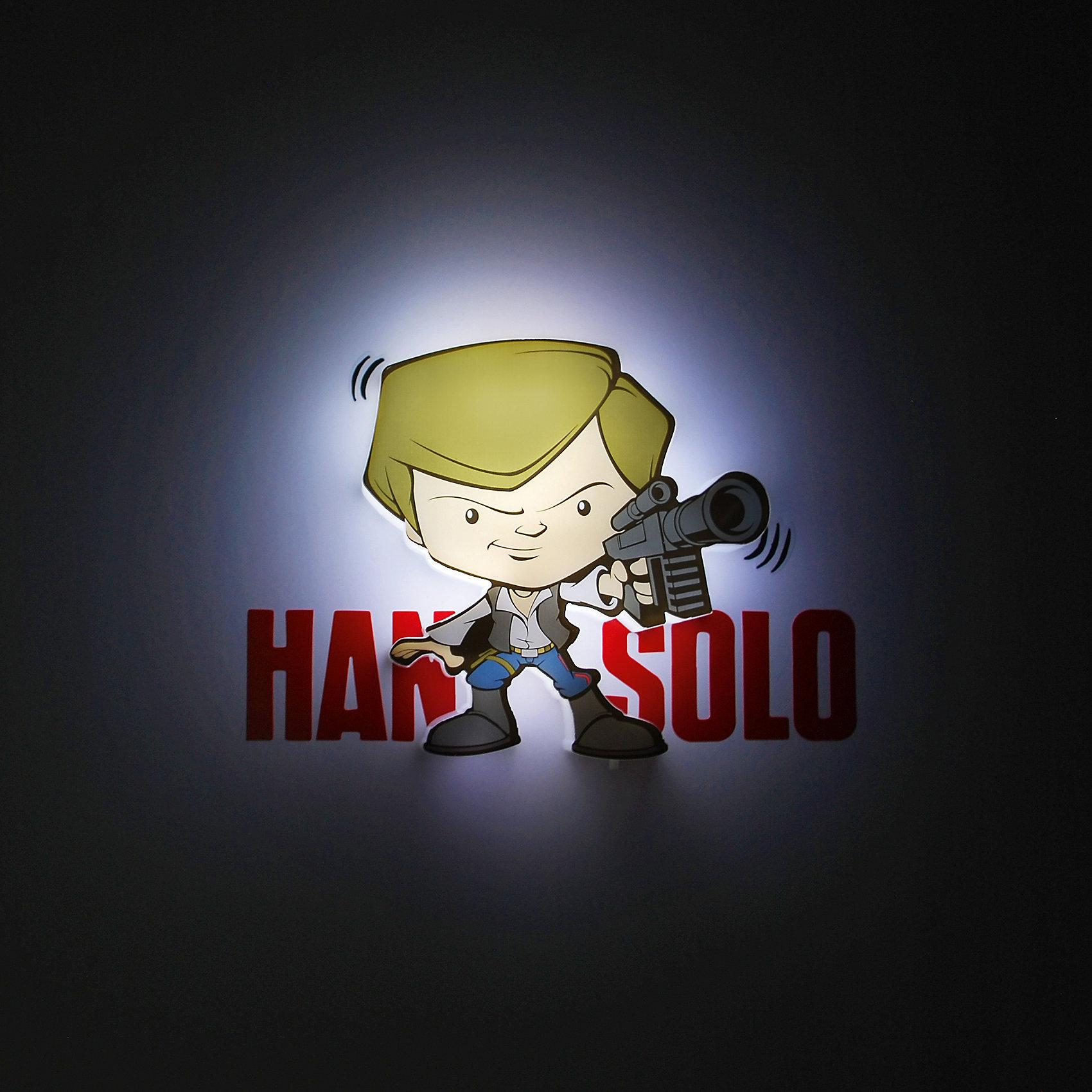 Пробивной мини 3D светильник Хан Соло, Звёздные ВойныПробивной мини 3D светильник Хан Соло, Звёздные Войны – светильник станет оригинальным декором для комнаты и подарит приятный мягкий свет.<br>Оригинальный пробивной 3D светильник, выполненный в виде Хана Соло – героя саги Звездные войны, создаст сказочную атмосферу в детской комнате. Мягкое приглушенное свечение наполнит детскую комнату теплом и уютом и избавит ребенка от ночных страхов. В основе работы светильника заложена светодиодная LED-технология, благодаря которой - он лёгкий, затрачивает небольшое количество энергии, не нагревается. Включение и выключения светильника выполняется путем передвижения рычажка. Приятным дополнением к светильнику служат тематические наклейки для декора.<br><br>Дополнительная информация:<br><br>- В комплекте: светильник; наклейки; крепеж<br>- Товар предназначен для детей старше 3 лет<br>- Безопасный: без проводов, работает от батареек (2хААА, не входят в комплект)<br>- Используются светодиоды: LED технология<br>- Не нагревается: всегда можно дотронуться до изделия<br>- Фантастический: выглядит превосходно в любое время суток<br>- Удобный: простая установка (автоматическое выключение через полчаса непрерывной работы)<br>- Материал: пластик, металл<br>- Размер светильника: 12,7x2,5x14 см.<br>- Размер упаковки: 16,9х4,1х16 см.<br>- Вес: 170 г.<br>- ВНИМАНИЕ! Содержит мелкие детали, использовать под непосредственным наблюдением взрослых<br>- Страна происхождения: Китай<br>- Дизайн и разработка: Канада<br><br>Пробивной мини 3D светильник Хан Соло, Звёздные Войны можно купить в нашем интернет-магазине.<br><br>Ширина мм: 169<br>Глубина мм: 41<br>Высота мм: 160<br>Вес г: 187<br>Возраст от месяцев: 36<br>Возраст до месяцев: 2147483647<br>Пол: Унисекс<br>Возраст: Детский<br>SKU: 4566035
