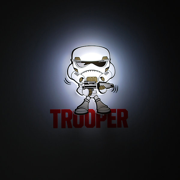 Пробивной мини 3D светильник Штурмовик, Звёздные ВойныЗвездные войны Посуда<br>Пробивной мини 3D светильник Штурмовик, Звёздные Войны – станет оригинальным декором для комнаты и подарит приятный мягкий свет.<br>Оригинальный пробивной 3D светильник, выполненный в виде имперского штурмовика – персонажа саги Звездные войны, создаст сказочную атмосферу в детской комнате. Мягкое приглушенное свечение наполнит детскую комнату теплом и уютом и избавит ребенка от ночных страхов. В основе работы светильника заложена светодиодная LED-технология, благодаря которой - он лёгкий, затрачивает небольшое количество энергии, не нагревается. Включение и выключения светильника выполняется путем передвижения рычажка. Приятным дополнением к светильнику служат тематические наклейки для декора.<br><br>Дополнительная информация:<br><br>- В комплекте: светильник; наклейки; крепеж<br>- Товар предназначен для детей старше 3 лет<br>- Безопасный: без проводов, работает от батареек (2хААА, не входят в комплект)<br>- Используются светодиоды: LED технология<br>- Не нагревается: всегда можно дотронуться до изделия<br>- Фантастический: выглядит превосходно в любое время суток<br>- Удобный: простая установка (автоматическое выключение через полчаса непрерывной работы)<br>- Материал: пластик, металл<br>- Размер светильника: 13x3x12,5 см.<br>- Размер упаковки: 16,9х4,1х16 см.<br>- Вес: 170 г.<br>- ВНИМАНИЕ! Содержит мелкие детали, использовать под непосредственным наблюдением взрослых<br>- Страна происхождения: Китай<br>- Дизайн и разработка: Канада<br><br>Пробивной мини 3D светильник Штурмовик, Звёздные Войны можно купить в нашем интернет-магазине.<br>Ширина мм: 169; Глубина мм: 41; Высота мм: 160; Вес г: 170; Возраст от месяцев: 36; Возраст до месяцев: 2147483647; Пол: Унисекс; Возраст: Детский; SKU: 4566039;