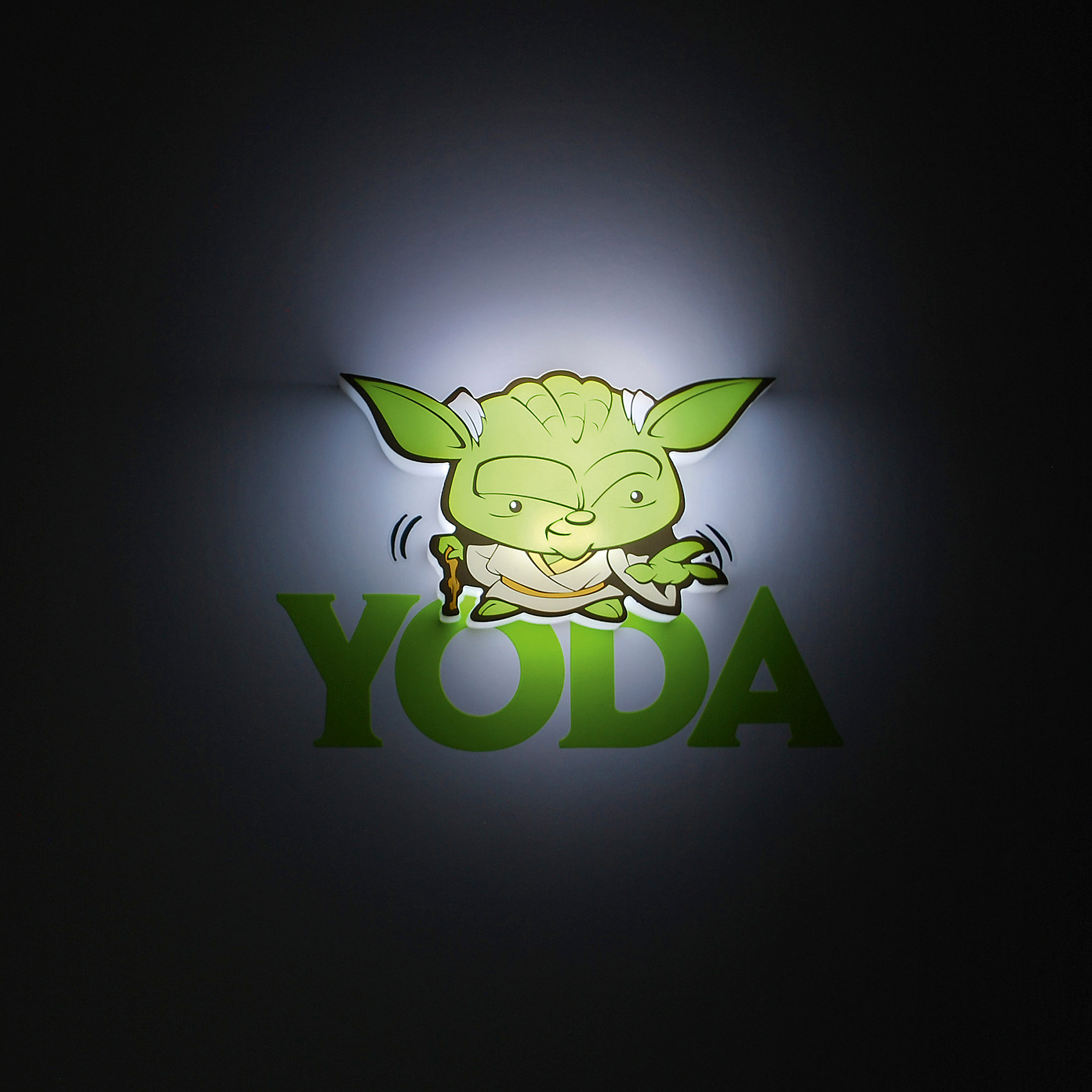 Пробивной мини 3D светильник Йода, Звёздные ВойныЗвездные войны<br>Пробивной мини 3D светильник Йода, Звёздные Войны – светильник станет оригинальным декором для комнаты и подарит приятный мягкий свет.<br>Оригинальный пробивной 3D светильник, выполненный в виде гранд мастера Ордена джедаев Йоды – героя саги Звездные войны, создаст сказочную атмосферу в детской комнате. Мягкое приглушенное свечение наполнит детскую комнату теплом и уютом и избавит ребенка от ночных страхов. В основе работы светильника заложена светодиодная LED-технология, благодаря которой - он лёгкий, затрачивает небольшое количество энергии, не нагревается. Включение и выключения светильника выполняется путем передвижения рычажка. Приятным дополнением к светильнику служат тематические наклейки для декора.<br><br>Дополнительная информация:<br><br>- В комплекте: светильник; наклейки; крепеж<br>- Товар предназначен для детей старше 3 лет<br>- Безопасный: без проводов, работает от батареек (2хААА, не входят в комплект)<br>- Используются светодиоды: LED технология<br>- Не нагревается: всегда можно дотронуться до изделия<br>- Фантастический: выглядит превосходно в любое время суток<br>- Удобный: простая установка (автоматическое выключение через полчаса непрерывной работы)<br>- Материал: пластик, металл<br>- Размер светильника: 14x2,5x7,6 см.<br>- Размер упаковки: 16,9х4,1х16 см.<br>- Вес: 160 г.<br>- ВНИМАНИЕ! Содержит мелкие детали, использовать под непосредственным наблюдением взрослых<br>- Страна происхождения: Китай<br>- Дизайн и разработка: Канада<br><br>Пробивной мини 3D светильник Йода, Звёздные Войны можно купить в нашем интернет-магазине.<br><br>Ширина мм: 169<br>Глубина мм: 41<br>Высота мм: 160<br>Вес г: 160<br>Возраст от месяцев: 36<br>Возраст до месяцев: 2147483647<br>Пол: Унисекс<br>Возраст: Детский<br>SKU: 4566040