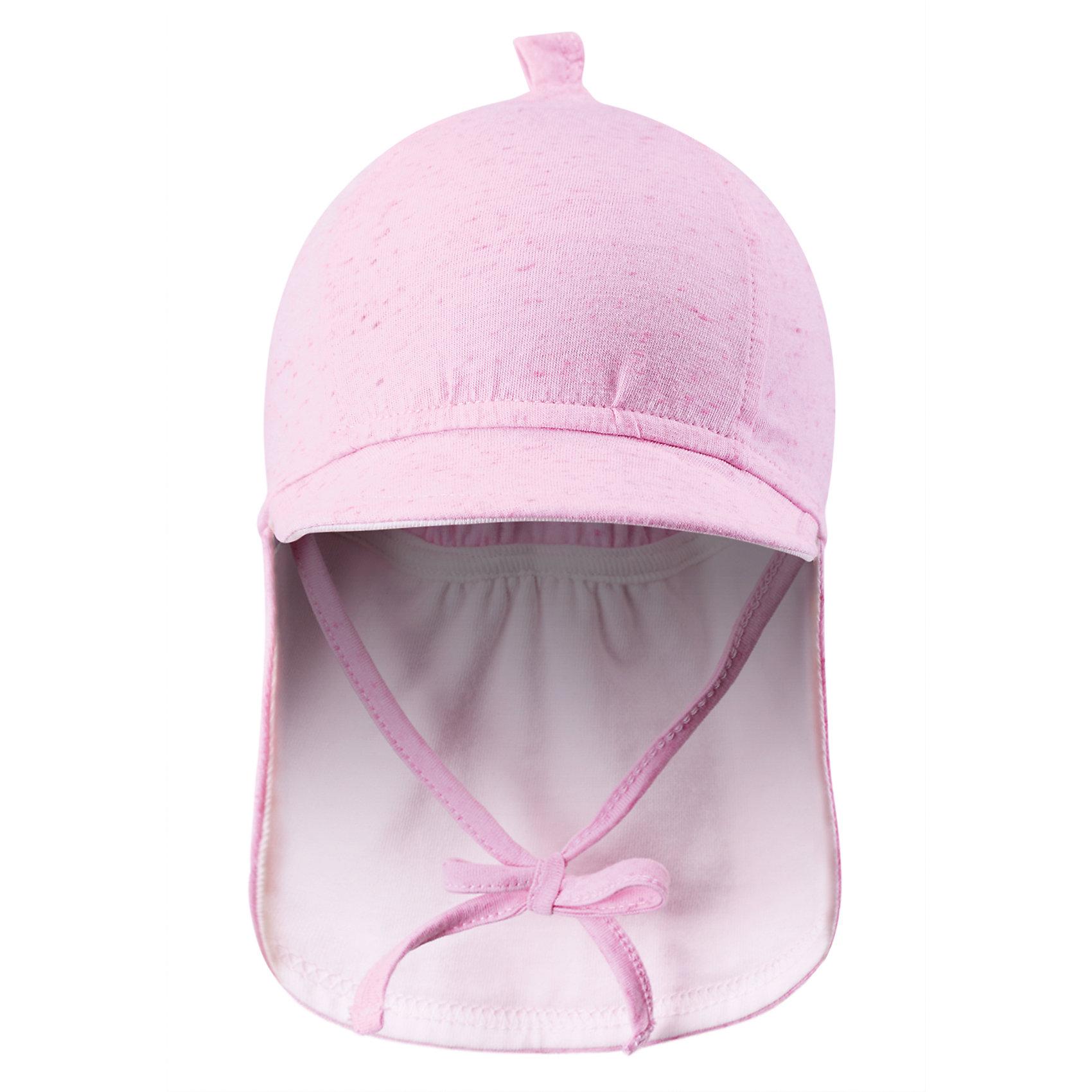 Шапка для девочки ReimaСимпатичная шляпа – прекрасный компаньон для активного малыша в летний период! Сделанная из воздушного джерси, эластичная шляпа - мягкая и приятная на ощупь. Козырек спереди и широкие поля сзади защитят нежную кожу ребенка от солнца.<br><br>Дополнительная информация:<br><br>Модная панама для новорожденных малышей<br>Удлиненное поле сзади защищает шею<br>Козырек спереди защищает глаза от солнца<br><br>Шапку  Reima (Рейма) можно купить в нашем магазине.<br><br>Ширина мм: 89<br>Глубина мм: 117<br>Высота мм: 44<br>Вес г: 155<br>Цвет: розовый<br>Возраст от месяцев: 1<br>Возраст до месяцев: 2<br>Пол: Женский<br>Возраст: Детский<br>Размер: 40,44<br>SKU: 4566069