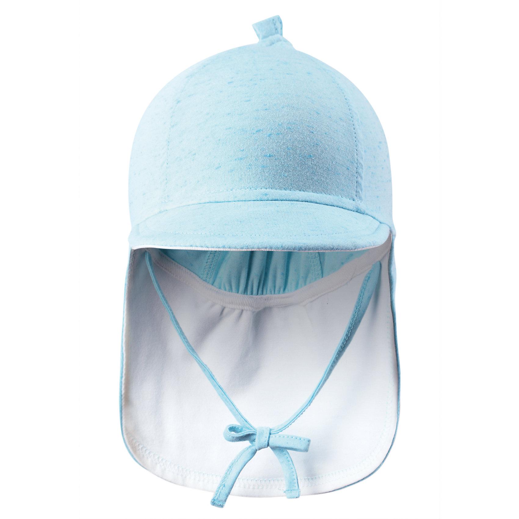 Шапка для мальчика ReimaШапки и шарфы<br>Симпатичная шляпа – прекрасный компаньон для активного малыша в летний период! Сделанная из воздушного джерси, эластичная шляпа - мягкая и приятная на ощупь. Козырек спереди и широкие поля сзади защитят нежную кожу ребенка от солнца.<br><br>Дополнительная информация:<br><br>Модная панама для новорожденных малышей<br>Удлиненное поле сзади защищает шею<br>Козырек спереди защищает глаза от солнца<br><br>Шапку  Reima (Рейма) можно купить в нашем магазине.<br><br>Ширина мм: 89<br>Глубина мм: 117<br>Высота мм: 44<br>Вес г: 155<br>Цвет: голубой<br>Возраст от месяцев: 1<br>Возраст до месяцев: 2<br>Пол: Мужской<br>Возраст: Детский<br>Размер: 40,44<br>SKU: 4566072