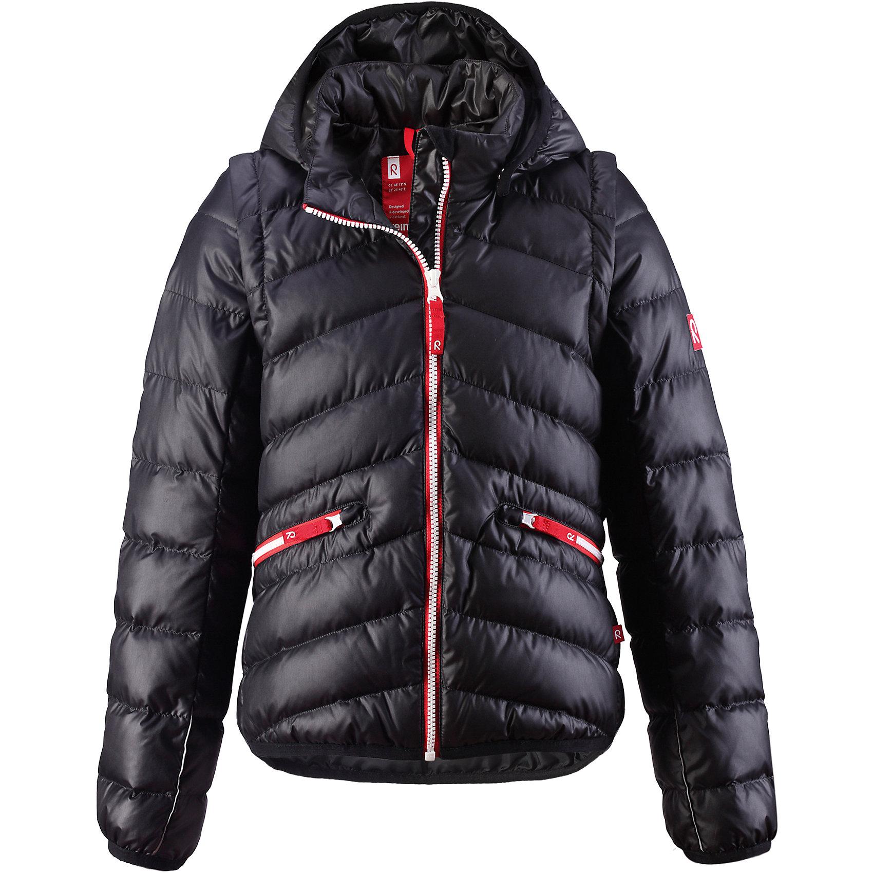 Куртка  ReimaПовседневный но модный выбор для девочек. Отстегивающиеся рукава добавят функциональности: можно одевать как жилет осенью или как куртку в более холодные дни. Молния контрастного цвета придаст игривости!<br><br>Дополнительная информация:<br><br>Слегка утепленная куртка для подростков, модель для девочек<br>Отстегивающиеся рукава на молнии<br>Эластичные манжеты и подол<br>Молнии контрастного цвета<br>Два кармана на молнии<br><br>Куртку  Reima (Рейма) можно купить в нашем магазине.<br><br>Ширина мм: 356<br>Глубина мм: 10<br>Высота мм: 245<br>Вес г: 519<br>Цвет: черный<br>Возраст от месяцев: 144<br>Возраст до месяцев: 156<br>Пол: Унисекс<br>Возраст: Детский<br>Размер: 152,134,158,146,128,104,110,116,122<br>SKU: 4566125