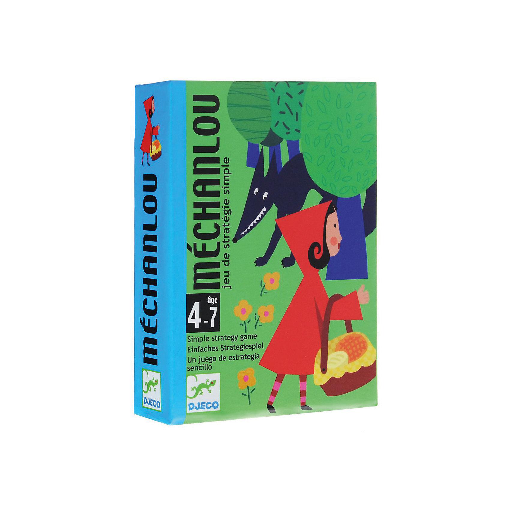 Игра Красная шапочка, DJECOИгра Красная шапочка, Djeco (Джеко) - идеальный вариант для совместного времяпрепровождения с ребенком или для детского праздника. Карточная игра с участием любимых героев известной сказки непременно вызовет живой интерес у детей. Перед началом игры из 8 карт лес формируется круг, в центр которого кладутся оставшиеся 8, остальные карты тасуются в колоду. Каждый из участников получает по 3 карты, остальные карты они будут добирать из колоды в ходе игры. Выполняя одно из трех разрешенных действий (выложить лицом вверх сказочную карту, сбросить одну карту, напасть на сказочную карту соперника с помощью карты волк), игроки стараются выстроить стратегию игры и собрать все 6 сказочных карт. Победителем становится игрок первым собравший сказочную историю из карточек. Для детей 4-7 лет.<br><br>Дополнительная информация:<br><br>- В комплекте: 50 карт (24 сказочные карты, 10 карт волк, 8 карт лес с охотником, 8 карт лес с волком), инструкция .<br>- Материал: картон.<br>- Размер упаковки: 11,7 х 8,5 х 2,8 см.<br>- Вес: 0,3 кг. <br><br>Игру Красная шапочка, Djeco (Джеко), можно купить в нашем магазине.<br><br>Ширина мм: 120<br>Глубина мм: 90<br>Высота мм: 30<br>Вес г: 210<br>Возраст от месяцев: 48<br>Возраст до месяцев: 84<br>Пол: Унисекс<br>Возраст: Детский<br>SKU: 4566282