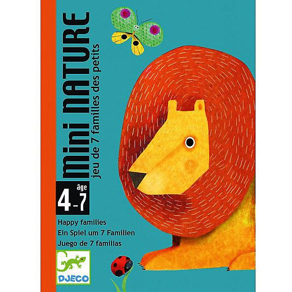Игра Маленькая природа, DJECOКарточные настольные игры<br>Карточная игра Маленькая природа, Djeco (Джеко), заинтересует даже самых маленьких игроков, они без труда соберут четырех животных и поселят их в свою среду обитания. В комплекте Вы найдете 28 красочных карточек с изображениями животных и 7 игровых полей, обозначающих семейства. Цель игры - собрать как можно больше семейств. Каждая семья состоит из четырех животных, которые живут в одной среде обитания, например в лесу. В игре могут участвовать от 2 до 4 игроков. В начале игры каждому участнику раздается по 5 карт, если у него сразу оказалось на руках семейство, он выкладывает их перед собой. Далее по часовой стрелке игроки по очереди спрашивают друг у друга карточки из семейства, которое они желают собрать (например, нет ли у тебя льва из семейства саванна). Если участник не получает запрошенную карту, то он берет карту из колоды, а ход передается следующему игроку, который тоже, в свою очередь, просит нужную ему карту у другого игрока. Выигрывает участник, собравший наибольшее количество семей. Для детей 4-7 лет.<br><br>Дополнительная информация:<br><br>- В комплекте: 28 карт, 7 семейств (Ферма, Джунгли, Лес, Горы, Сад, Саванна, Море). <br>- Материал: картон.<br>- Размер упаковки: 11,7 х 8,5 х 2,8 см.<br>- Вес: 0,3 кг. <br><br>Игру Маленькая природа, Djeco (Джеко), можно купить в нашем магазине.<br><br>Ширина мм: 90<br>Глубина мм: 120<br>Высота мм: 30<br>Вес г: 170<br>Возраст от месяцев: 48<br>Возраст до месяцев: 84<br>Пол: Унисекс<br>Возраст: Детский<br>SKU: 4566283