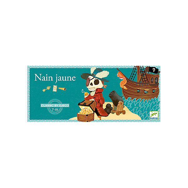 Игра Желтый карлик, DJECOНастольные игры для всей семьи<br>Игра Желтый карлик, Djeco (Джеко) - увлекательная настольная игра, которая придется пот душе всем любителям морских приключений и пиратской тематики. В игре могут участвовать от 2 до 4 игроков. Цель игры состоит в том, чтобы собрать как можно больше сокровищ. Перед началом игры, каждый игрок получает по 19 жетонов, которые обозначают различные драгоценности, а также определенное число карт. Остальные карты откладываются рубашкой вверх и используются в следующей партии. Игровая доска помещается по центру стола между игроками. В центре доски находится сундук капитана Крюка. Игроки делают ставки и по очереди выкладывают по старшинству карты в стопку. Если игрок не может продолжить начатую серию, ход переходит к следующему игроку, который должен продолжить эту же серию. Сбросивший все карты получает слиток золота за каждую карту, которая остается на руках у остальных участников. Побеждает тот, кто соберет за игру больше всех сокровищ.<br><br>Дополнительная информация:<br><br>- В комплекте: 1 игровая доска с 5 картами выигрыша, 1 сундук капитана Крюка, 52 карты (в том числе 5 выигрышных), 78 жетонов (12 алмазов, 12 рубинов, 12 сапфиров, 12 изумрудов, 30 слитков золота), подробные правила игры.<br>- Материал: картон, дерево.<br>- Размер упаковки: 42 x 16 x 3,5 см.<br><br>Игру Желтый карлик, Djeco (Джеко), можно купить в нашем магазине.<br><br>Ширина мм: 40<br>Глубина мм: 420<br>Высота мм: 160<br>Вес г: 850<br>Возраст от месяцев: 84<br>Возраст до месяцев: 120<br>Пол: Унисекс<br>Возраст: Детский<br>SKU: 4566287