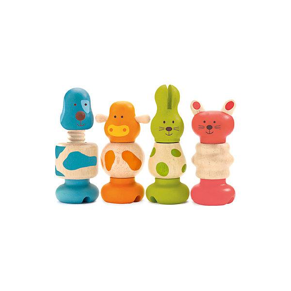 Набор игрушек Животные, DJECOДеревянные конструкторы<br>Набор игрушек Животные, Djeco (Джеко) - это чудесный яркий конструктор для самых маленьких. В комплекте Вы найдете крупные разноцветные детали, из которых можно собрать четыре деревянные фигурки в виде собачки, коровки, кошечки и зайца. Все детали можно менять местами и комбинировать, что поможет малышу развить логику, мелкую моторику и познавательную активность, научиться различать фигуры, форму и цвет. Детали в форме болтов и гаек выполнены из высококачественных и экологически чистых материалов и очень приятны на ощупь.<br><br>Дополнительная информация:<br><br>- В комплекте: 12 деталей для сборки 4 фигурок животных (собачка, коровка, кошечка, заяц).<br>- Материал: дерево.<br>- Размер упаковки: 22 х 12,5 х 6 см.<br>- Вес: 0,22 кг.<br><br>Набор игрушек Животные, Djeco (Джеко), можно купить в нашем магазине.<br><br>Ширина мм: 130<br>Глубина мм: 220<br>Высота мм: 60<br>Вес г: 390<br>Возраст от месяцев: 180<br>Возраст до месяцев: 540<br>Пол: Унисекс<br>Возраст: Детский<br>SKU: 4566295