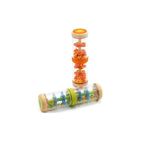 Погремушка «Шум дождя» зеленая, DJECOИгрушки для новорожденных<br>Оригинальная погремушка Шум дождя, Djeco (Джеко), станет любимой игрушкой Вашего малыша. Погремушка выполнена в виде удлиненной прозрачной колбы. Внутри корпуса - яркие зеленые и желтые шарики, которые с приятным потрескиванием перекатываются из одной стороны в другую, создавая эффект шумя дождя. Игрушка выполнена из высококачественных и экологически чистых материалов. Обладает успокаивающим свойством и поможет Вашему малышу быстрее заснуть.<br><br>Дополнительная информация:<br><br>- Цвет: зеленый.<br>- Материал: дерево, пластик.<br>- Размер упаковки: 5,5 х 6,5 х 20 см.<br>- Вес: 0,2 кг.<br><br>Погремушку Шум дождя, зеленая, Djeco (Джеко), можно купить в нашем магазине.<br><br>Ширина мм: 70<br>Глубина мм: 50<br>Высота мм: 200<br>Вес г: 200<br>Возраст от месяцев: 12<br>Возраст до месяцев: 48<br>Пол: Унисекс<br>Возраст: Детский<br>SKU: 4566297